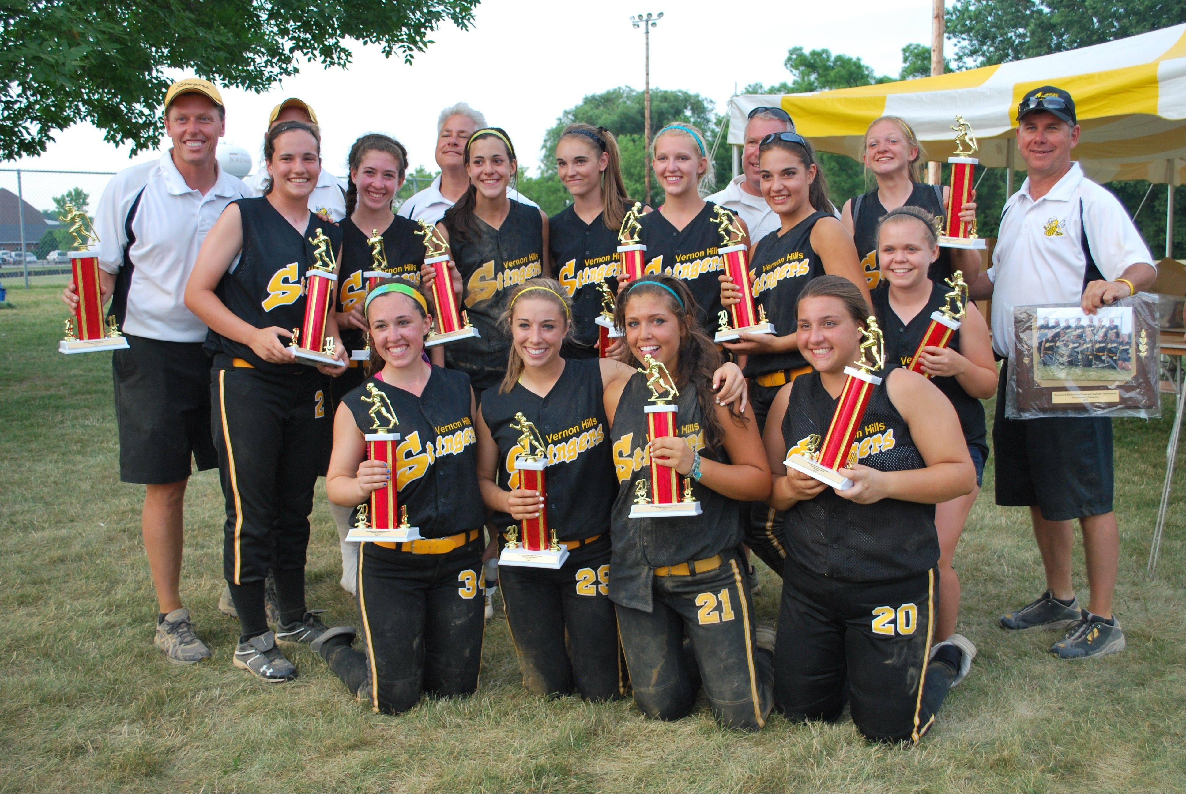 The Vernon Hills Stingers 16U elite team won the McHenry County Heatwave tournament last weekend.