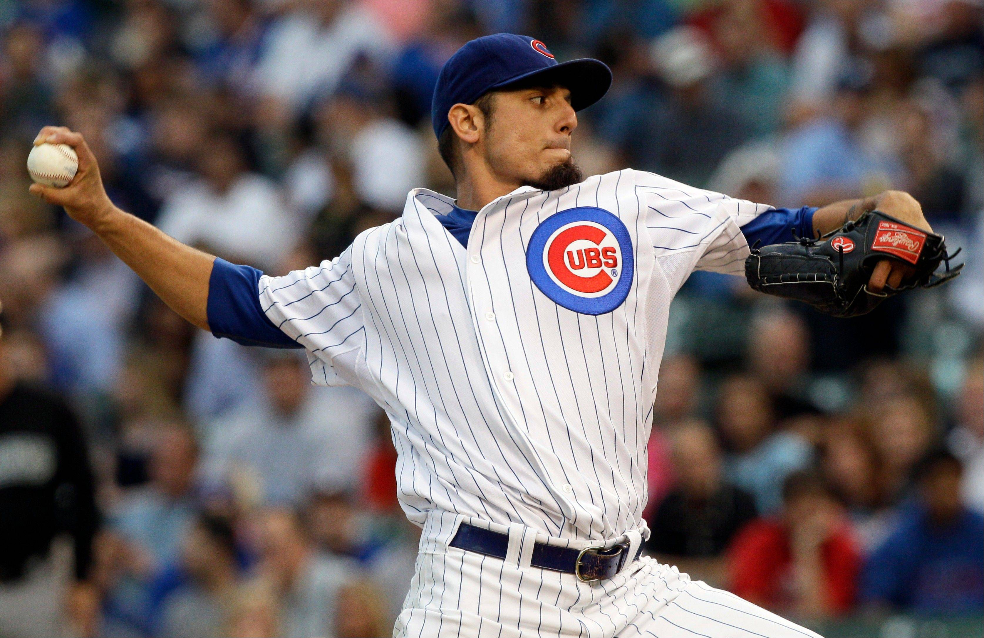 Cubs starter Matt Garza threw seven shutout innings Thursday night.