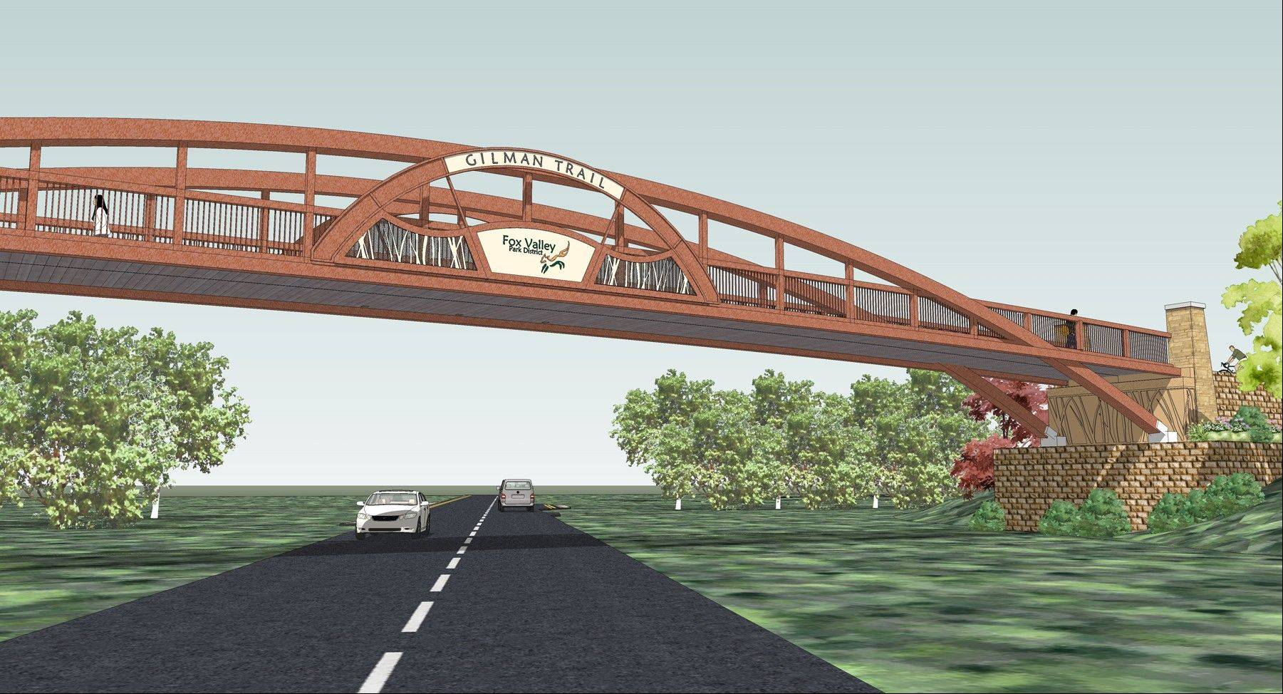 Once completed later in the year, the new Gilman Trail overpass at Galena Boulevard will bring added safety and convenience for trail users, according to Fox Valley Park District officials.