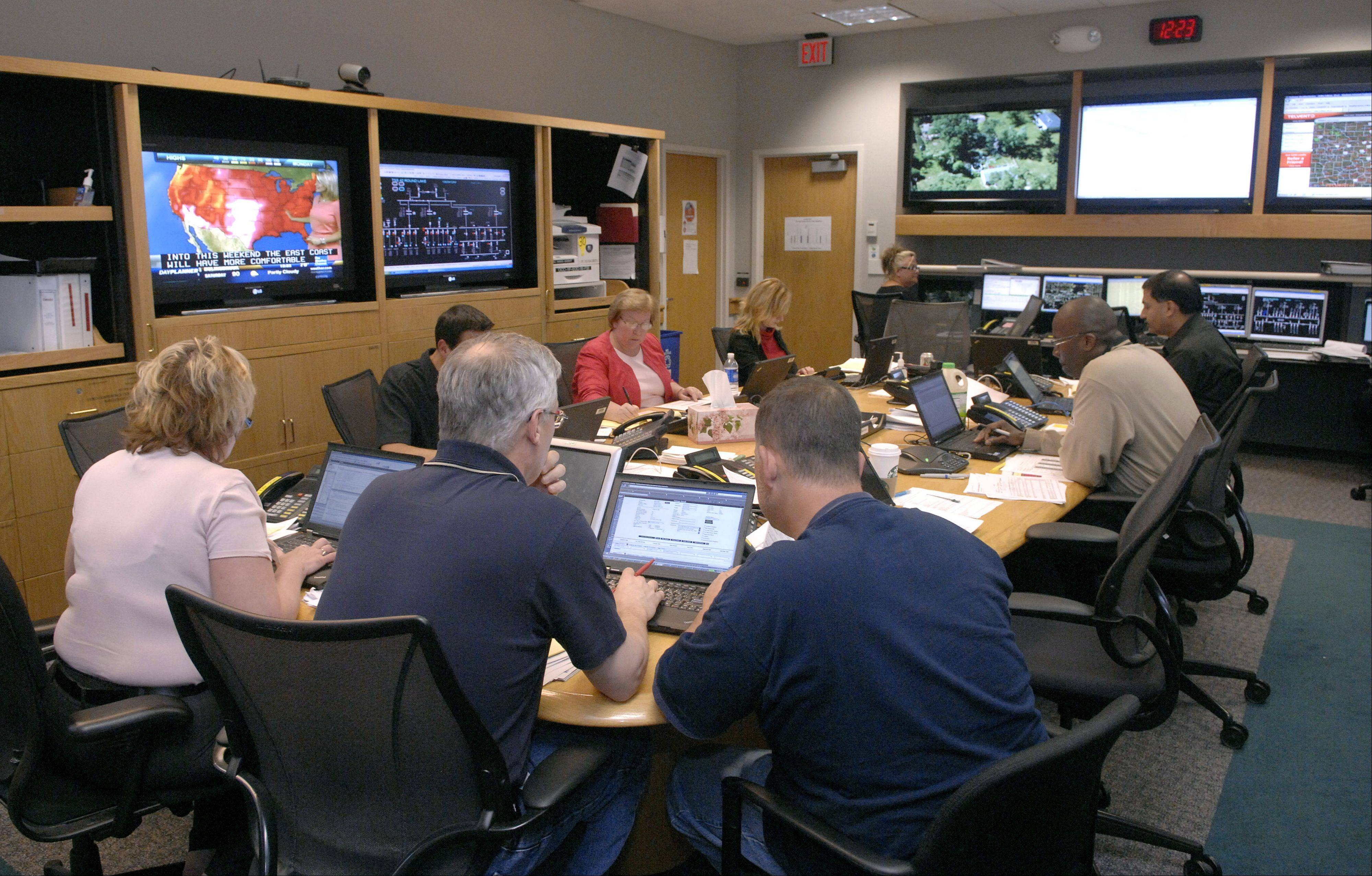 Going inside ComEd's nerve center during this week's emergency