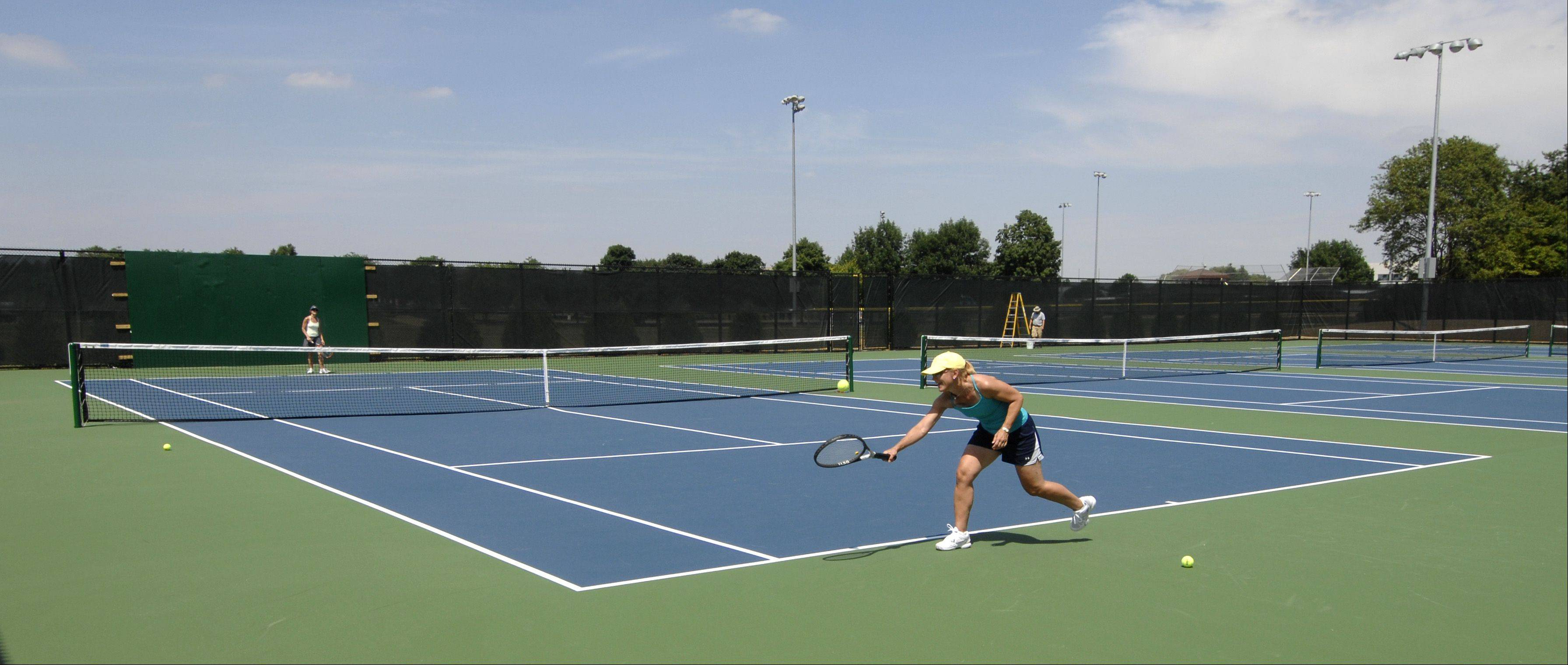 Eight new tennis were added to Nike Sports Complex on Naperville's north side. The expanded park officially reopens at 10 a.m. Saturday.