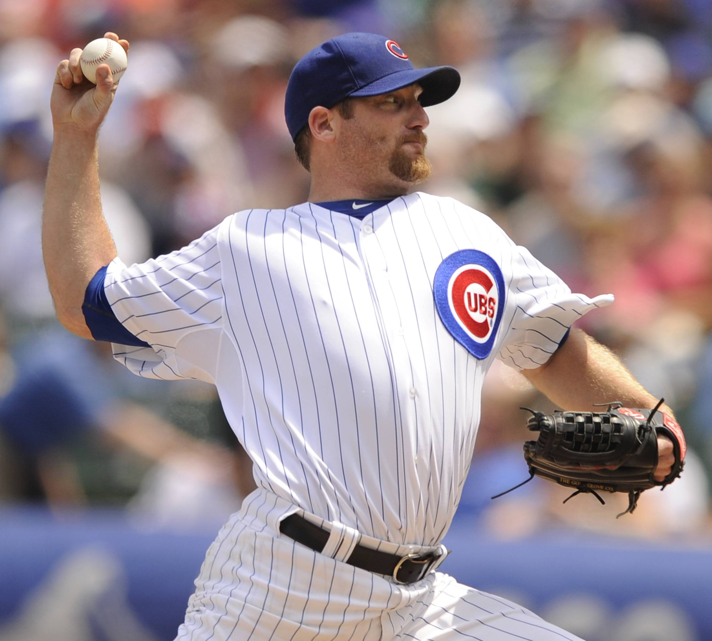 Ryan Dempster allowed 4 hits in 8 innings of work Friday afternoon. The Cubs won 2-1.