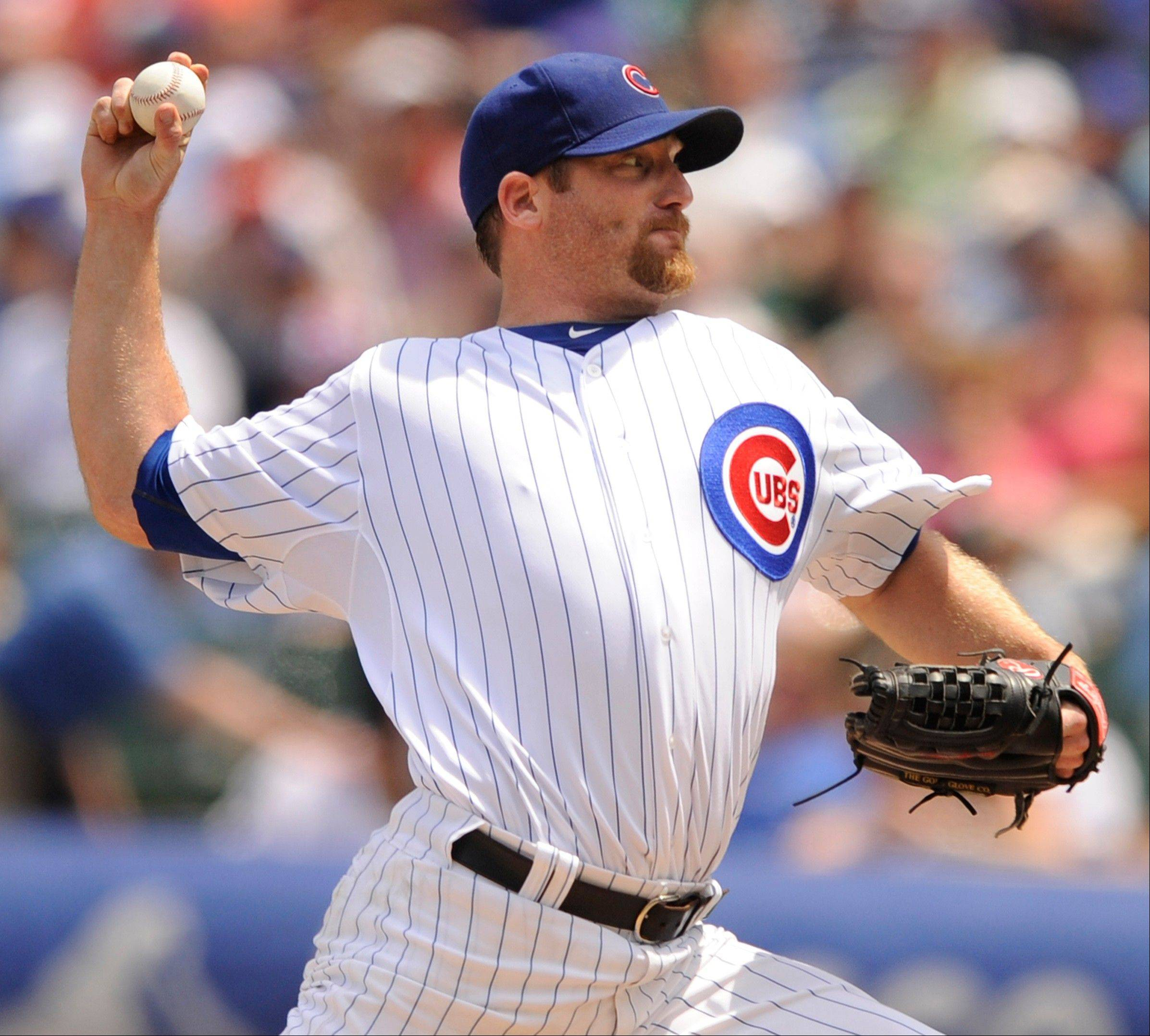 Ryan Dempster happily delivered 8 innings of scoreless, 4-hit ball on Friday against the Florida Marlins.