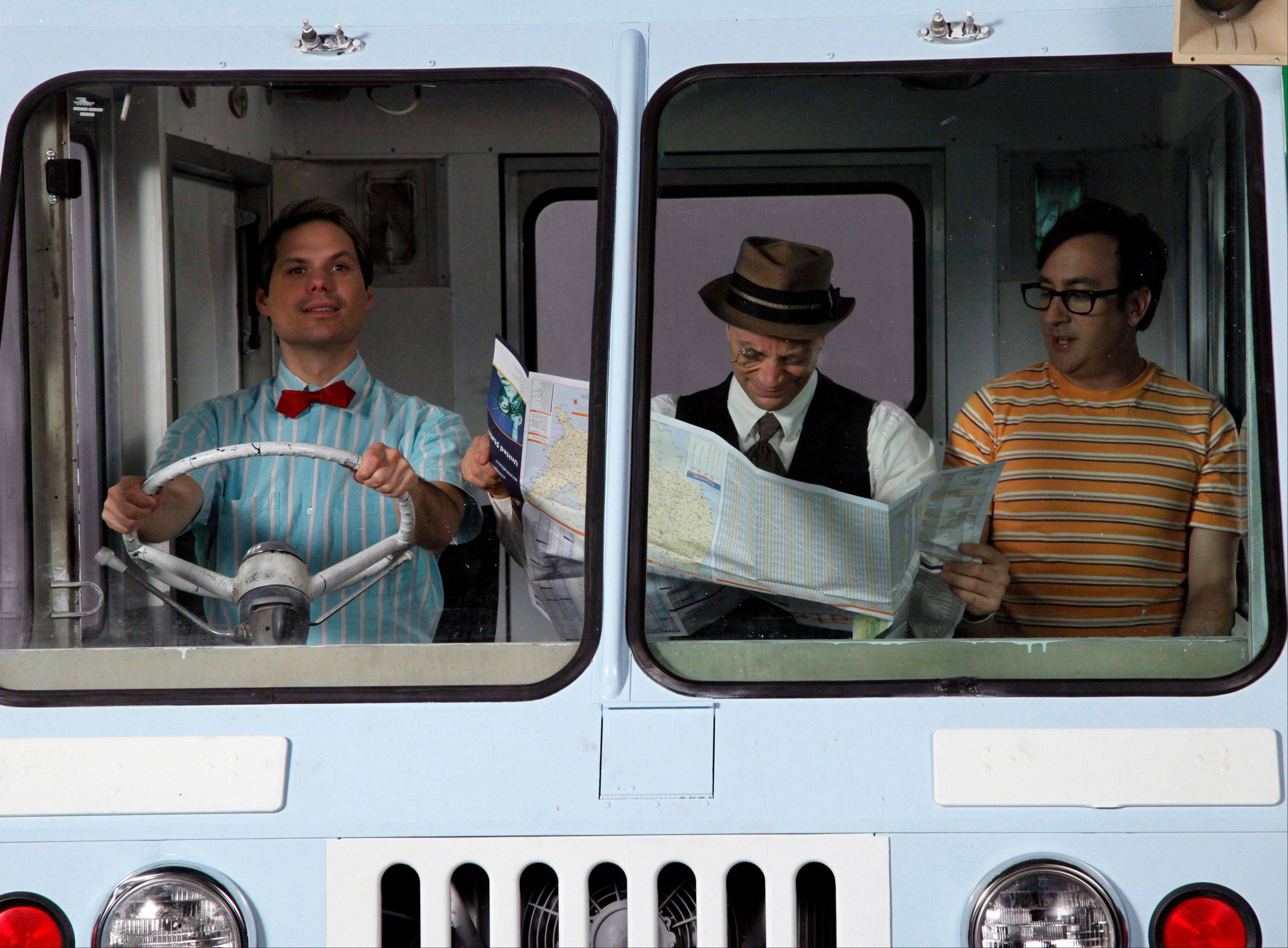 "Michael Ian Black, Joshua Malina and Michael Panes are shown in an ice cream truck in a scene from the web series ""Backwash."" Around 2007, TV networks made a veritable land rush to the Web, looking to lay down digital production studios. Four years later, many of those networks have pulled up stakes, shunning original Web content and reorienting their online outlook."
