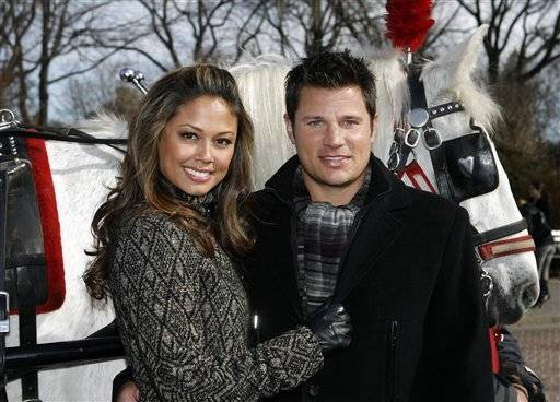 After dating for more than five years, Nick Lachey and Vanessa Minnillo are married, on July 15.
