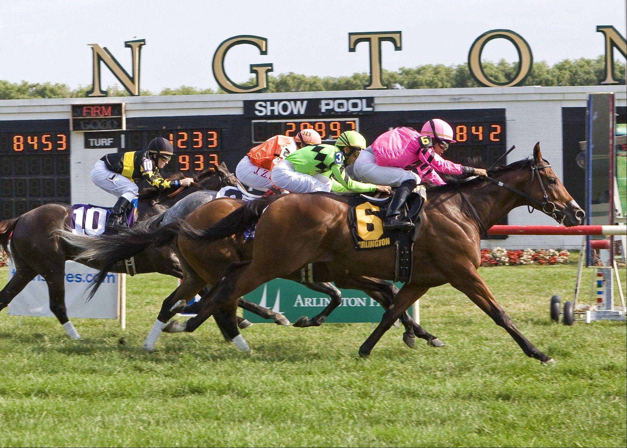 Havelock wins the Arlington Sprint by a neck with Jermaine Bridgmohan up.