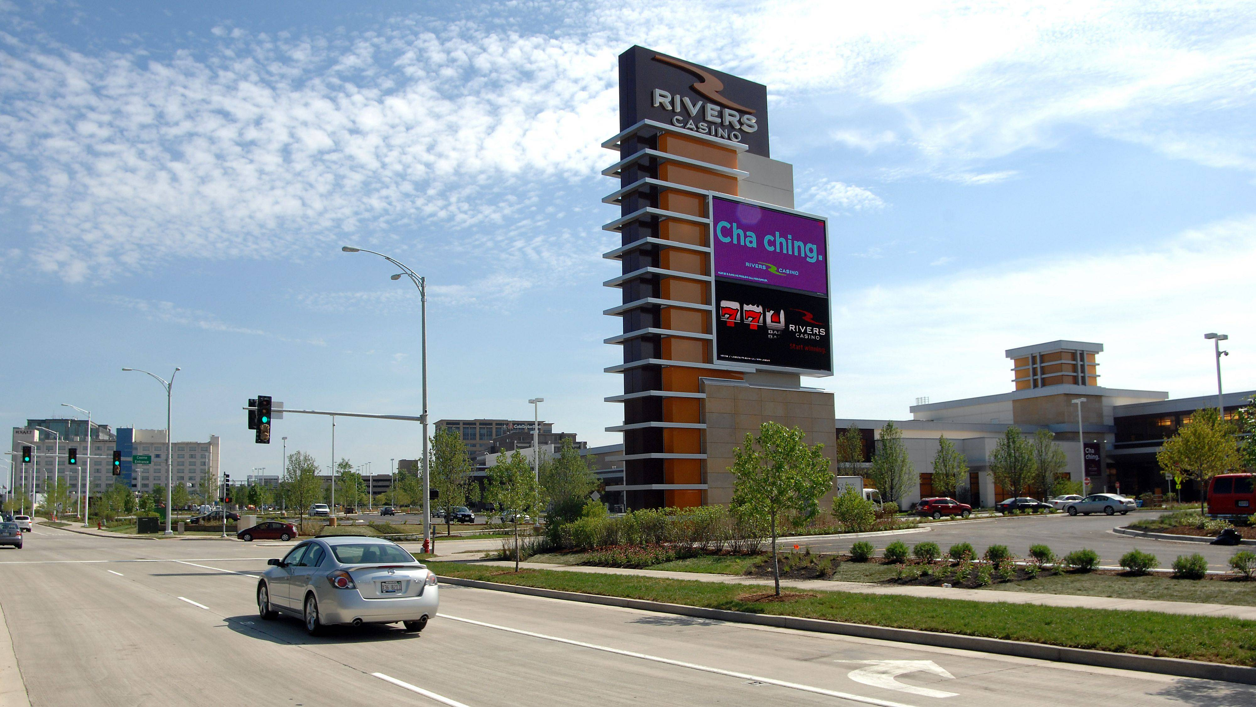 Rivers Casino in Des Plaines is set to open on July 18. City officials are more optimistic than the state and project the Rivers Casino will generate $325 million to $400 million in its first year, drawing gamblers away from rival casinos due to its sheer novelty, and its proximity to Chicago and O�Hare International Airport.