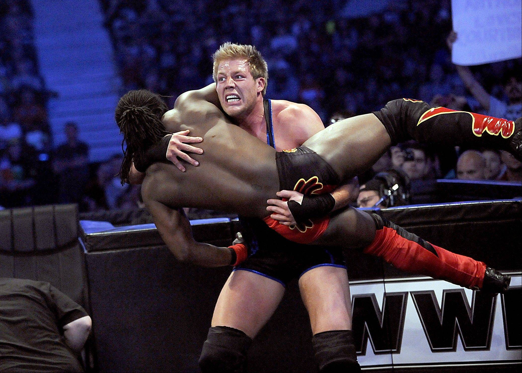 "Wrestlers like Jack Swagger and Kofi Kingston will rumble in WWE's ""Money in the Bank"" at the Allstate Arena in Rosemont."