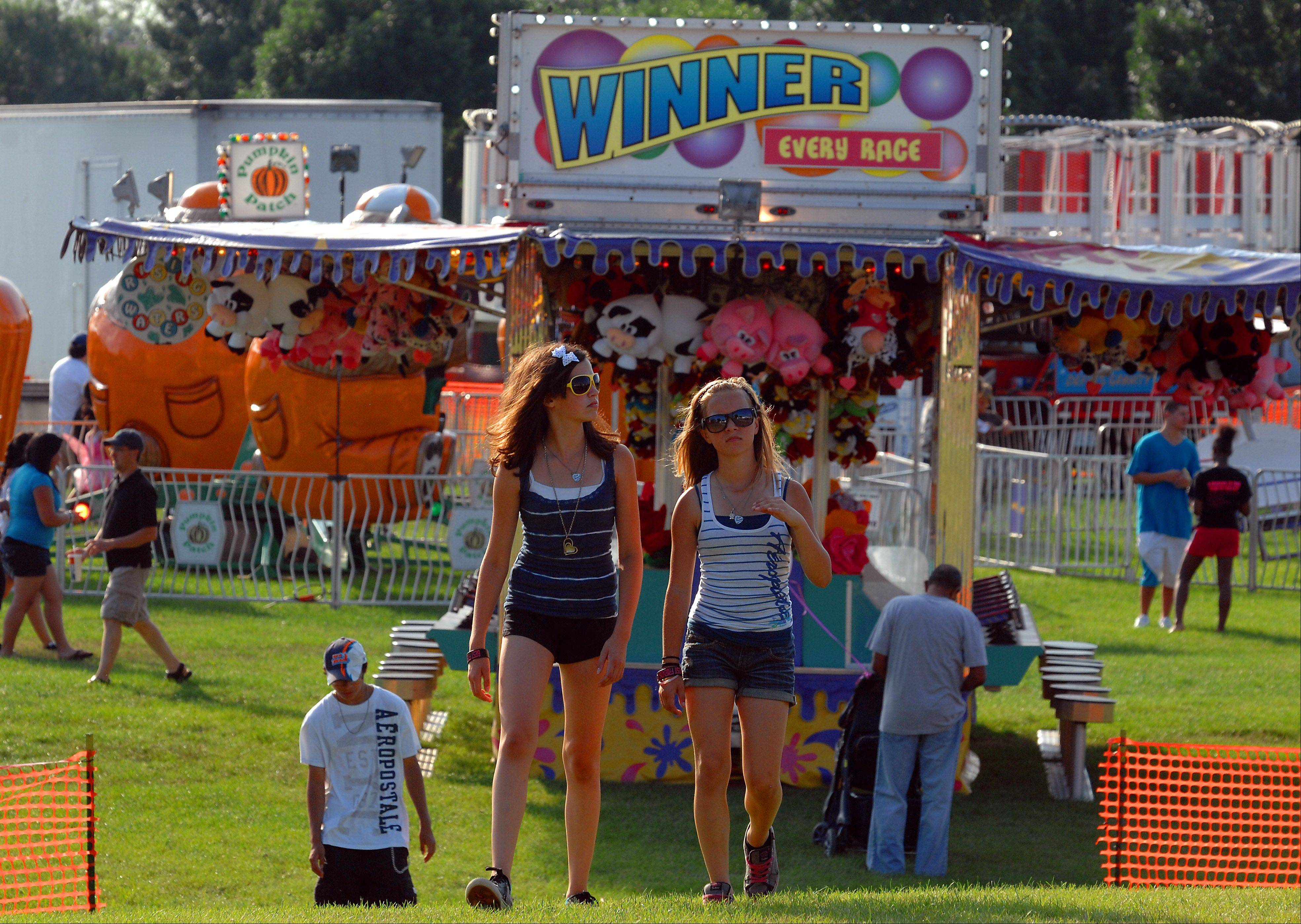 Crowds meander at the Streamwood Summer Celebration on Friday.