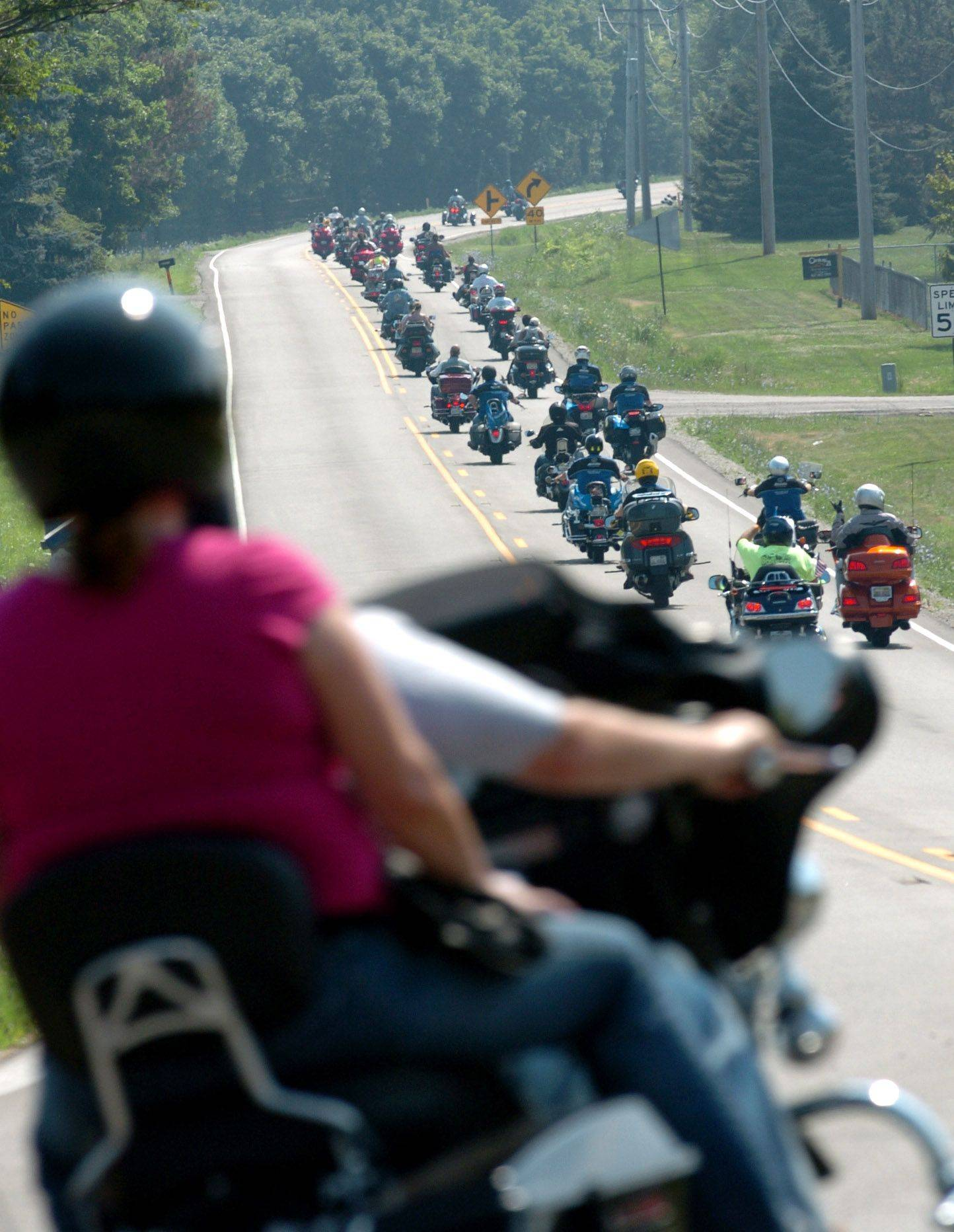 About 1,400 riders registered for Sunday's 23rd Chicagoland Ride for Kids, which took riders down Bowes Road near Plato Center in Elgin.