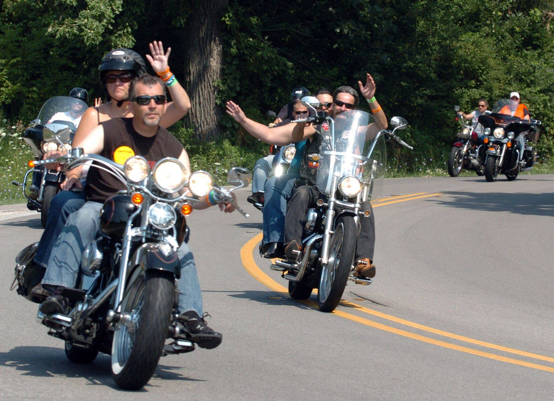 All types of bikers rode for the Pediatric Brain Tumor Foundation Sunday in Elgin, during the Chicagoland Ride for Kids.