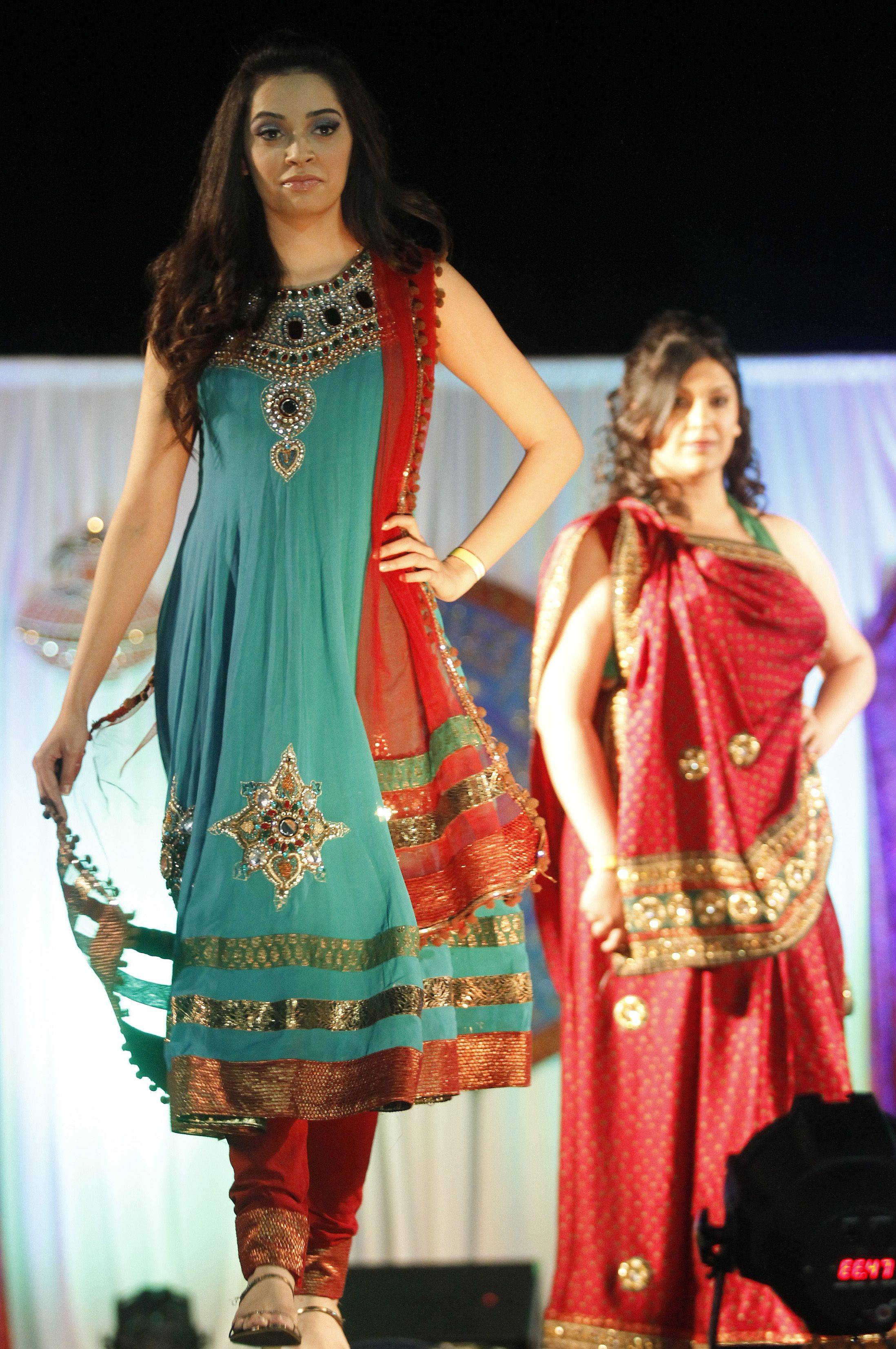 The Vibrant India Festival was held Sunday afternoon at the Sears Centre. A Fashion show displaying different kinds of Indian Fashion was included in the days events along with music, food, clothing and jewelry vendors.