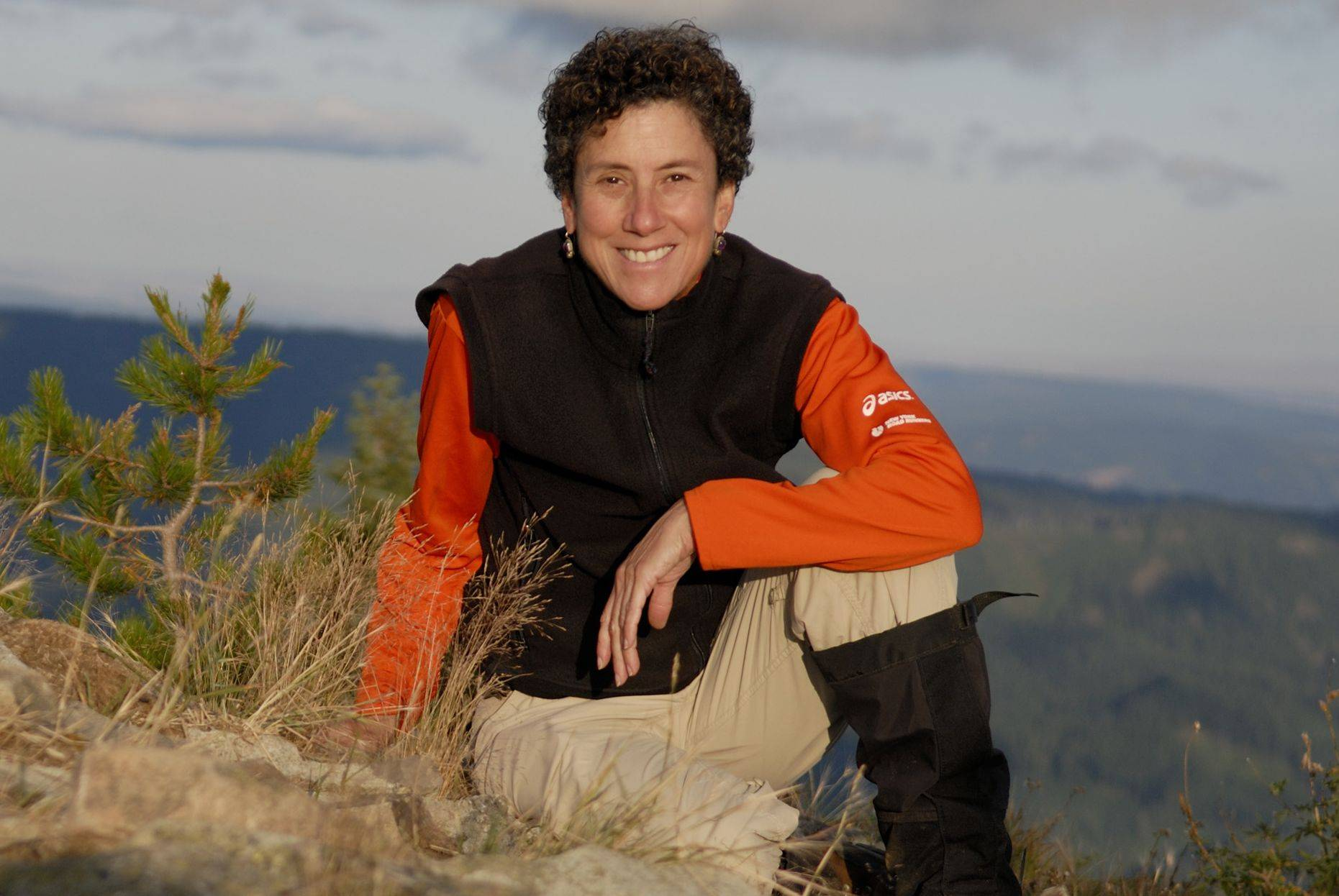 Barbara I. Bond of Geneva is atop Little Huckleberry Mountain in the state of Washington during one of her hikes.