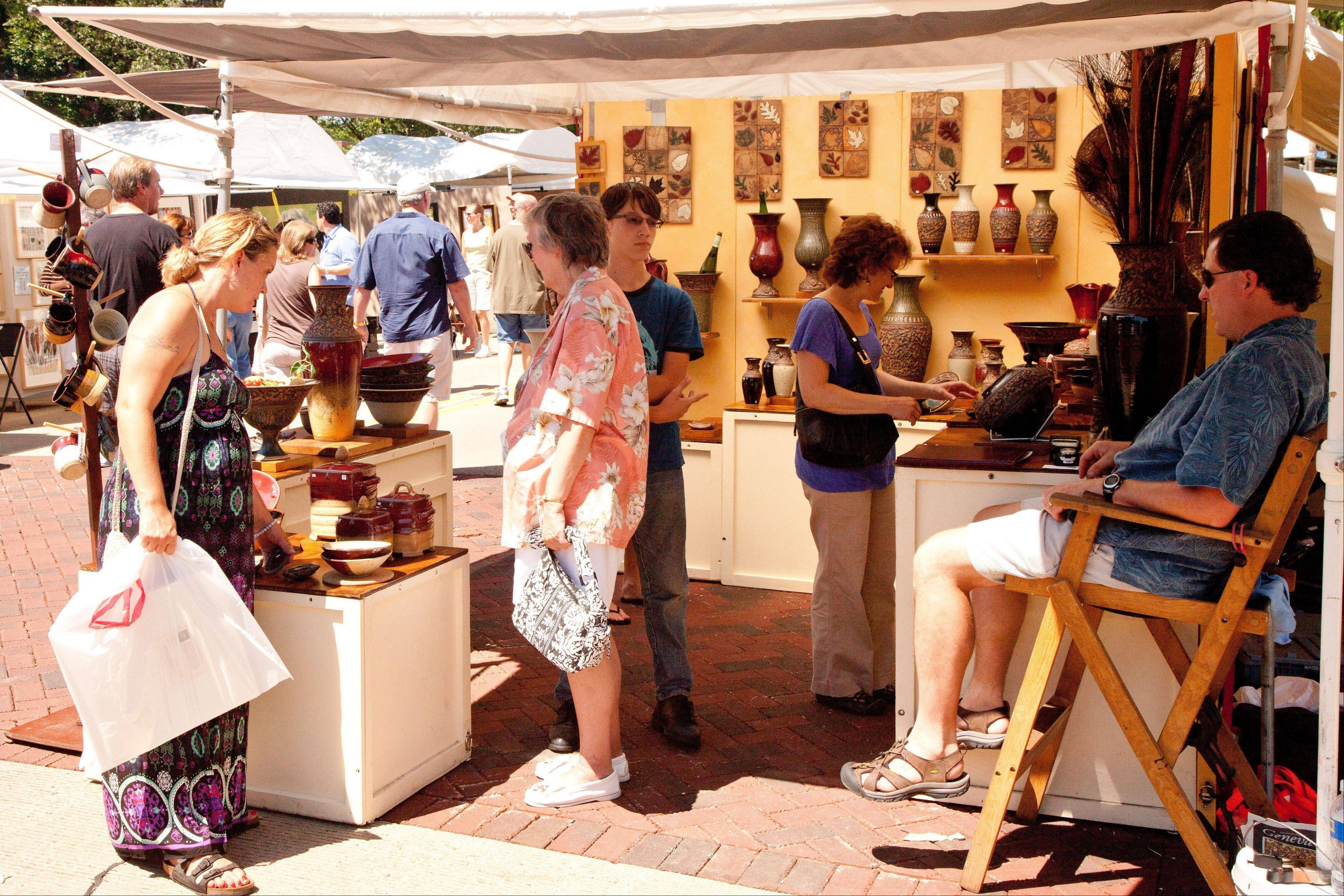 More than 20,000 visitors are expected to attend the Geneva Arts Fair Saturday, July 23, and Sunday, July 24.