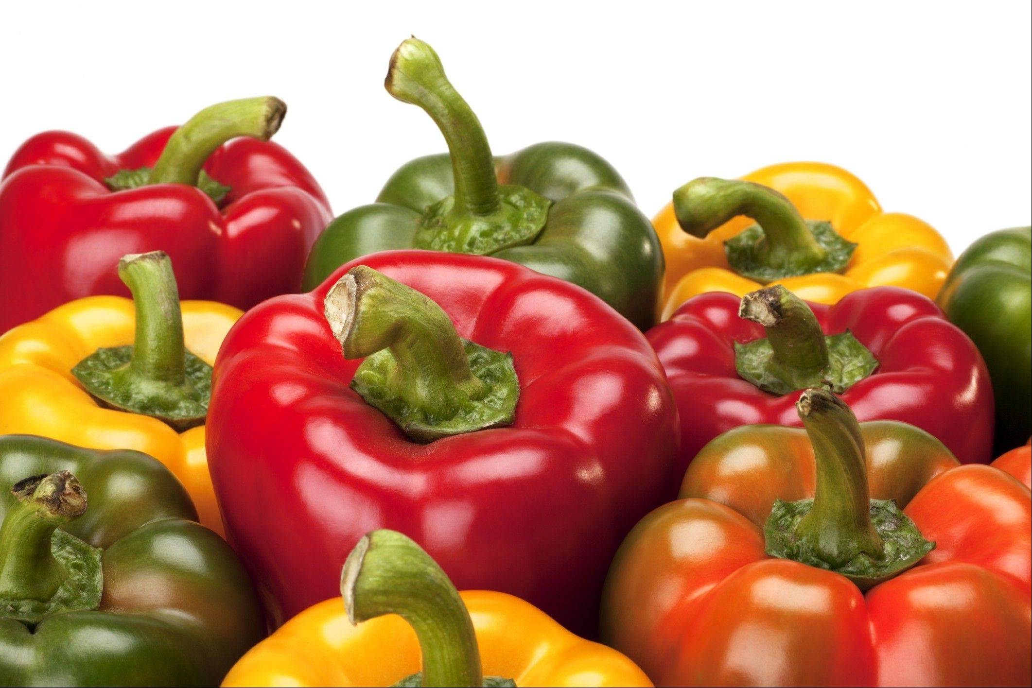 Peppers, which are rich in antioxidants, make great summer snacks.
