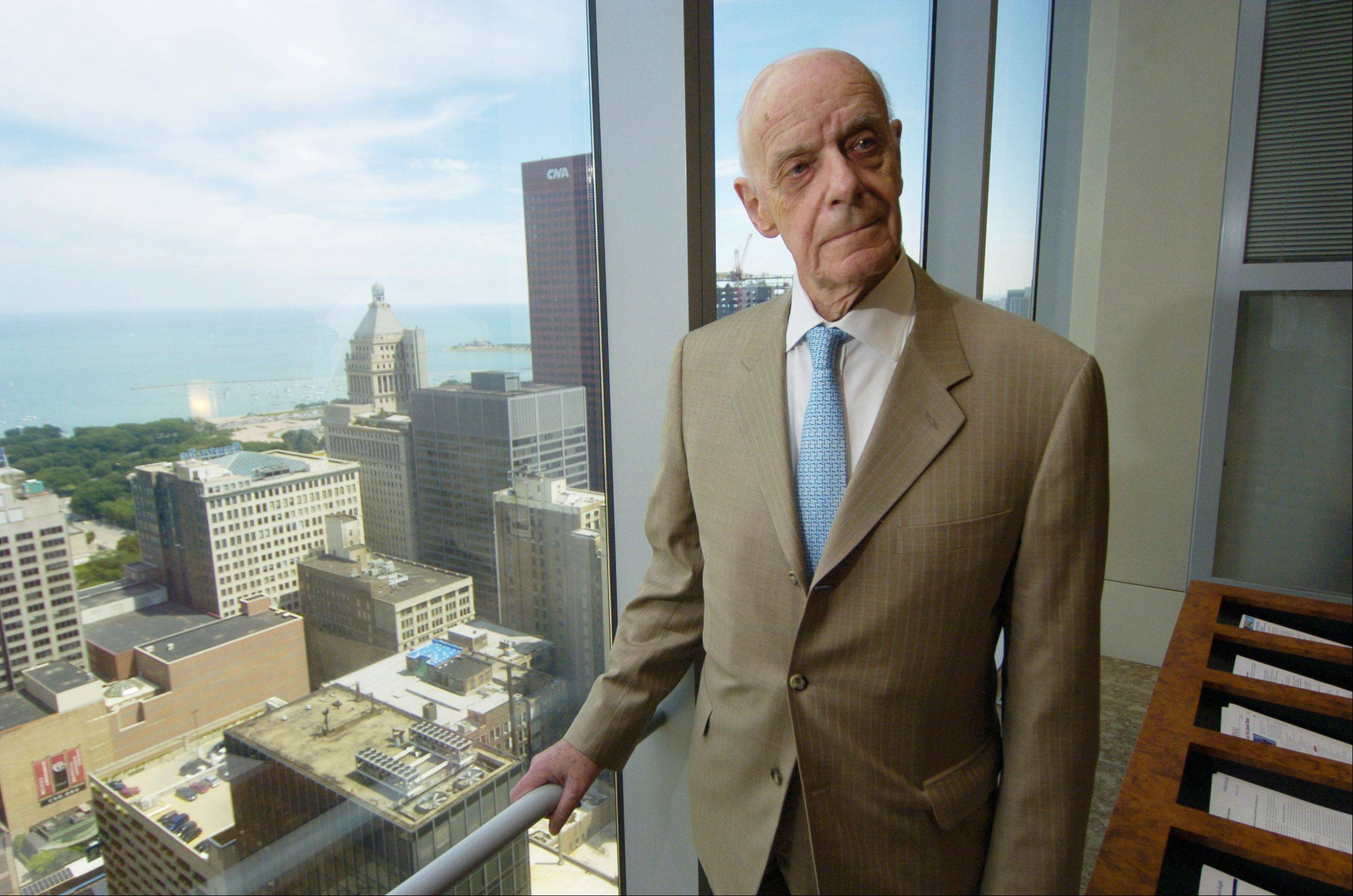 Attorney Jack Siegel, shown at his Chicago office, was honored Monday night for 50 years of service to Arlington Heights.