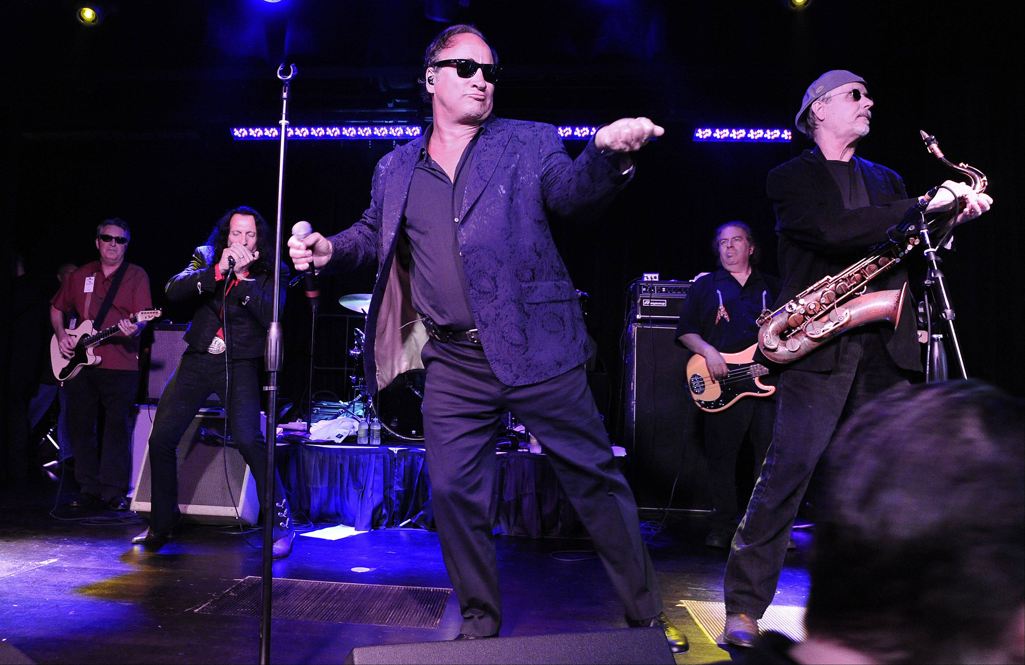 Actor Jim Belushi attends the VIP party at the Rivers Casino in Des Plaines to gamble and sing with his band in the Cube Room on Sunday.
