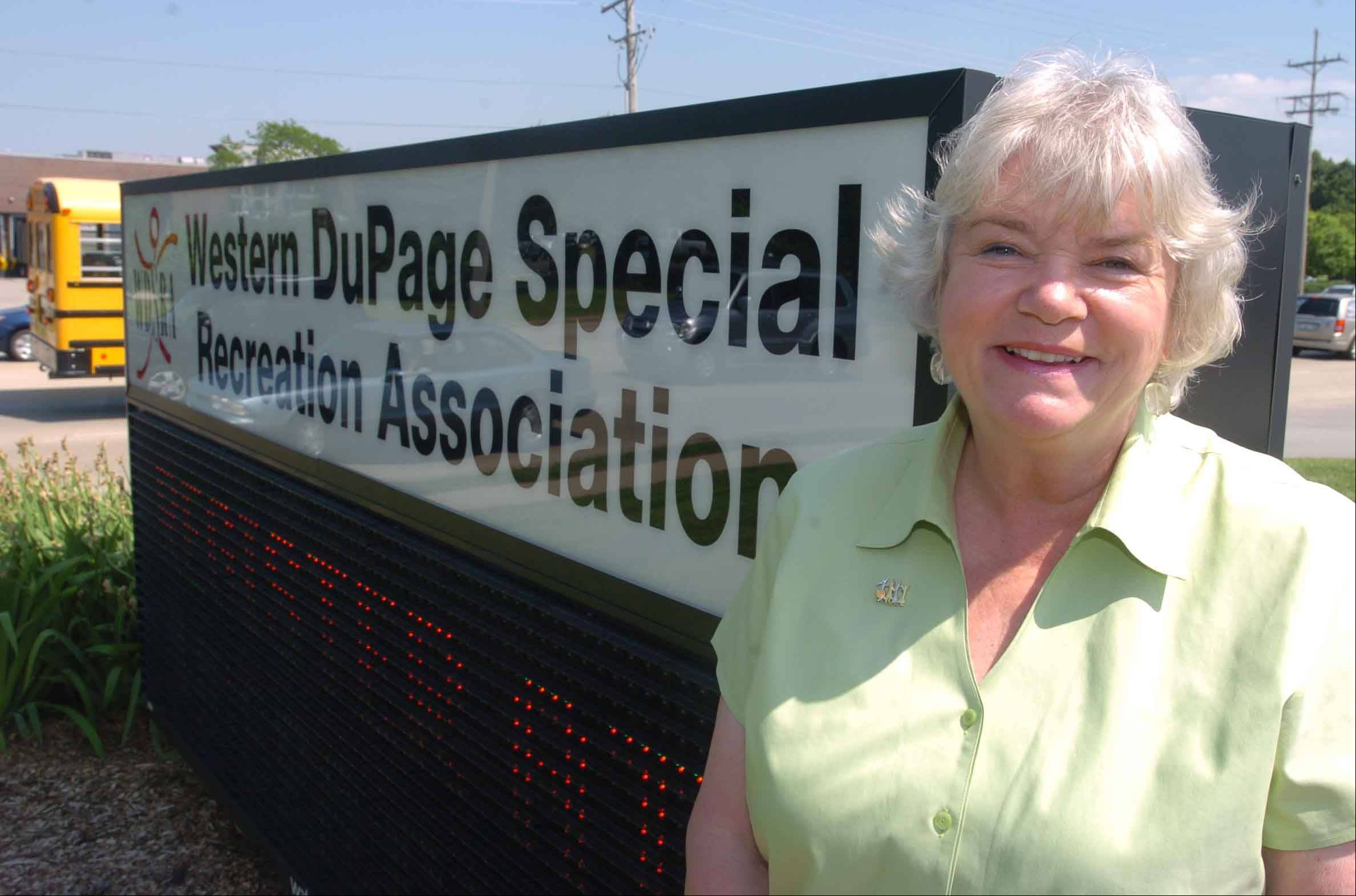Jane Hodgkinson has spent the past 30 years working to help special needs residents and their families as executive director of the Western DuPage Special Recreation Association.
