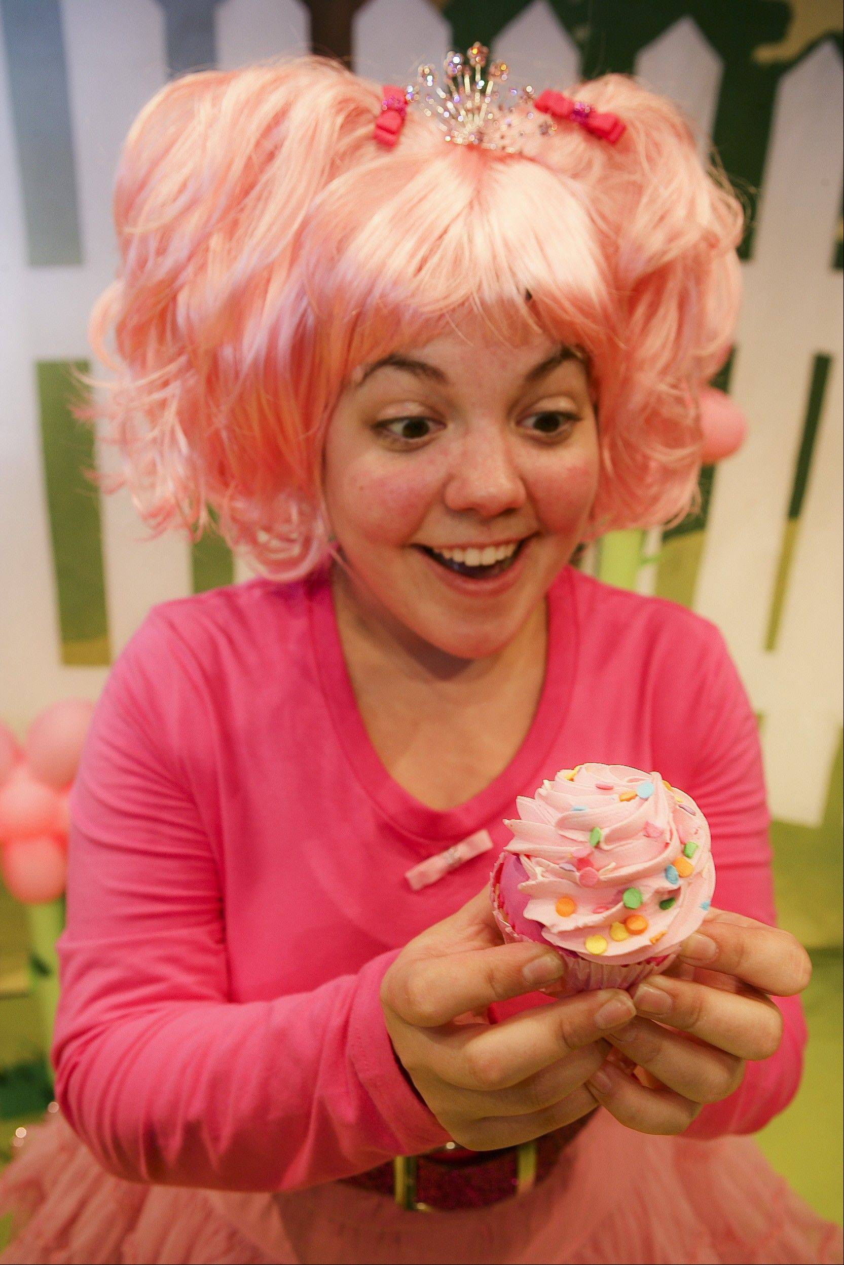 "Lara Mainier plays the pink- and cupcake-loving lead in ""Pinkalicious,"" the children's musical now at the Broadway Playhouse at Water Tower Place through Sept. 3."