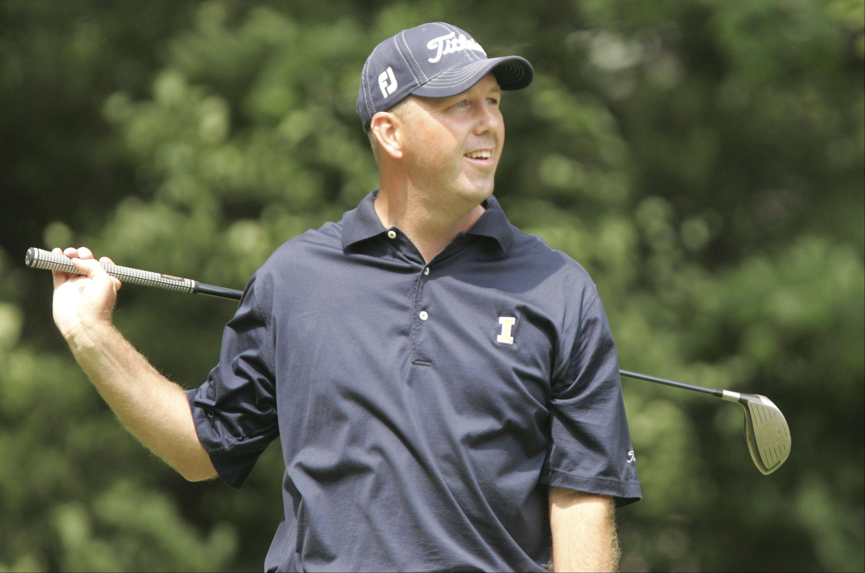 Mike Small has won the Illinois Open four times. He will begin his quest for a fifth title Monday morning at Hawthorn Woods.