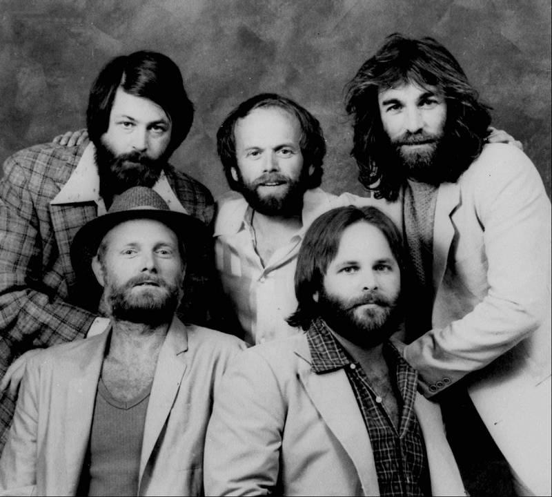A 1979 Photo Of The Beach Boys Back Row Brian Wilson Al Jardine