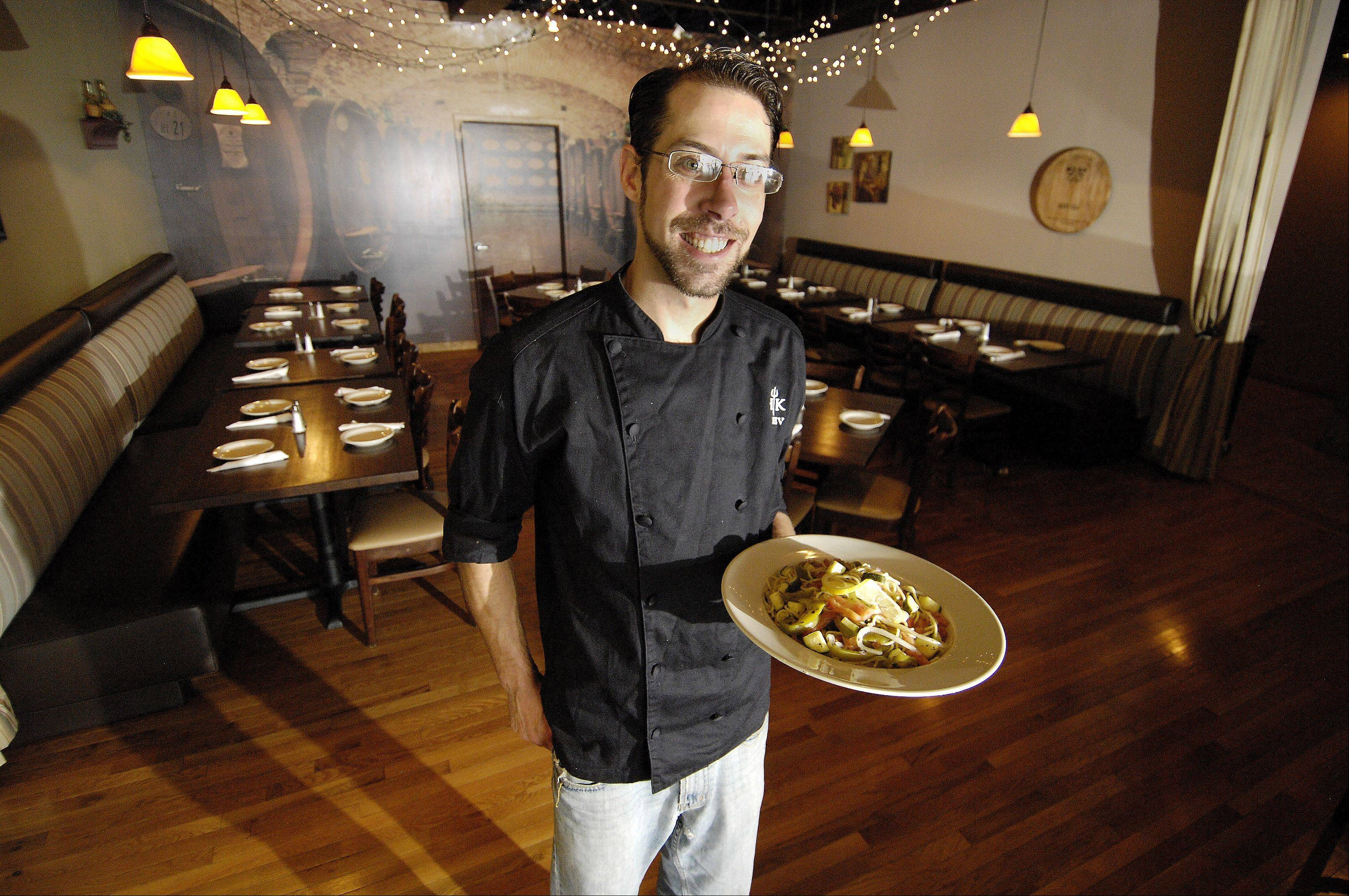"After making it to the final four on TV's ""Hell's Kitchen,"" chef Trevor McGrath landed in Glendale Heights and now runs the kitchen at Bella Luna."