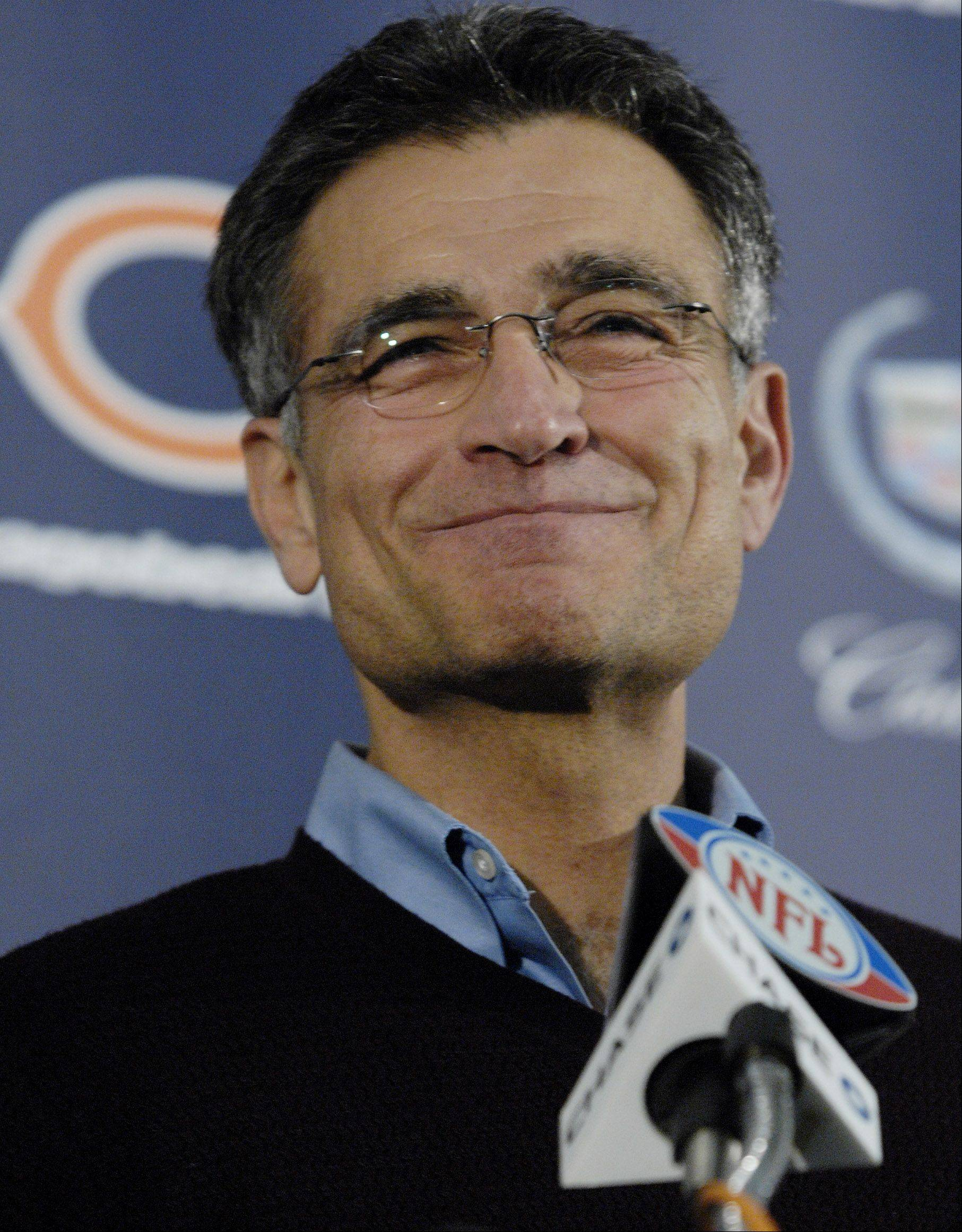 A draft-day snafu by the Bears and GM Jerry Angelo continues to confound Ravens coach John Harbaugh, who suggested this week that the Bears hand over some sort of compensation.