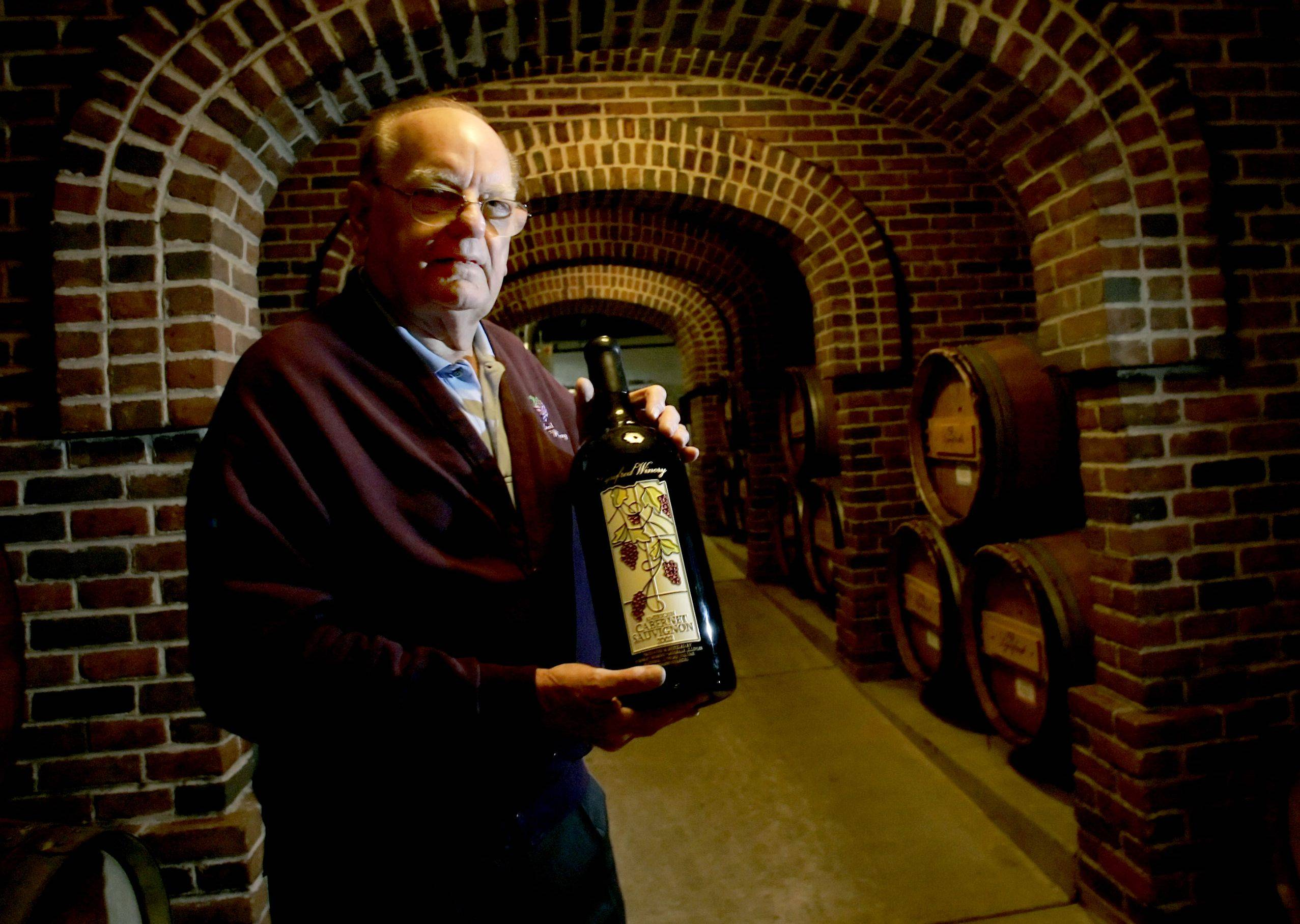 Fred Koehler, co-founder of Lynfred Winery in Roselle, died at age 83 on Saturday.