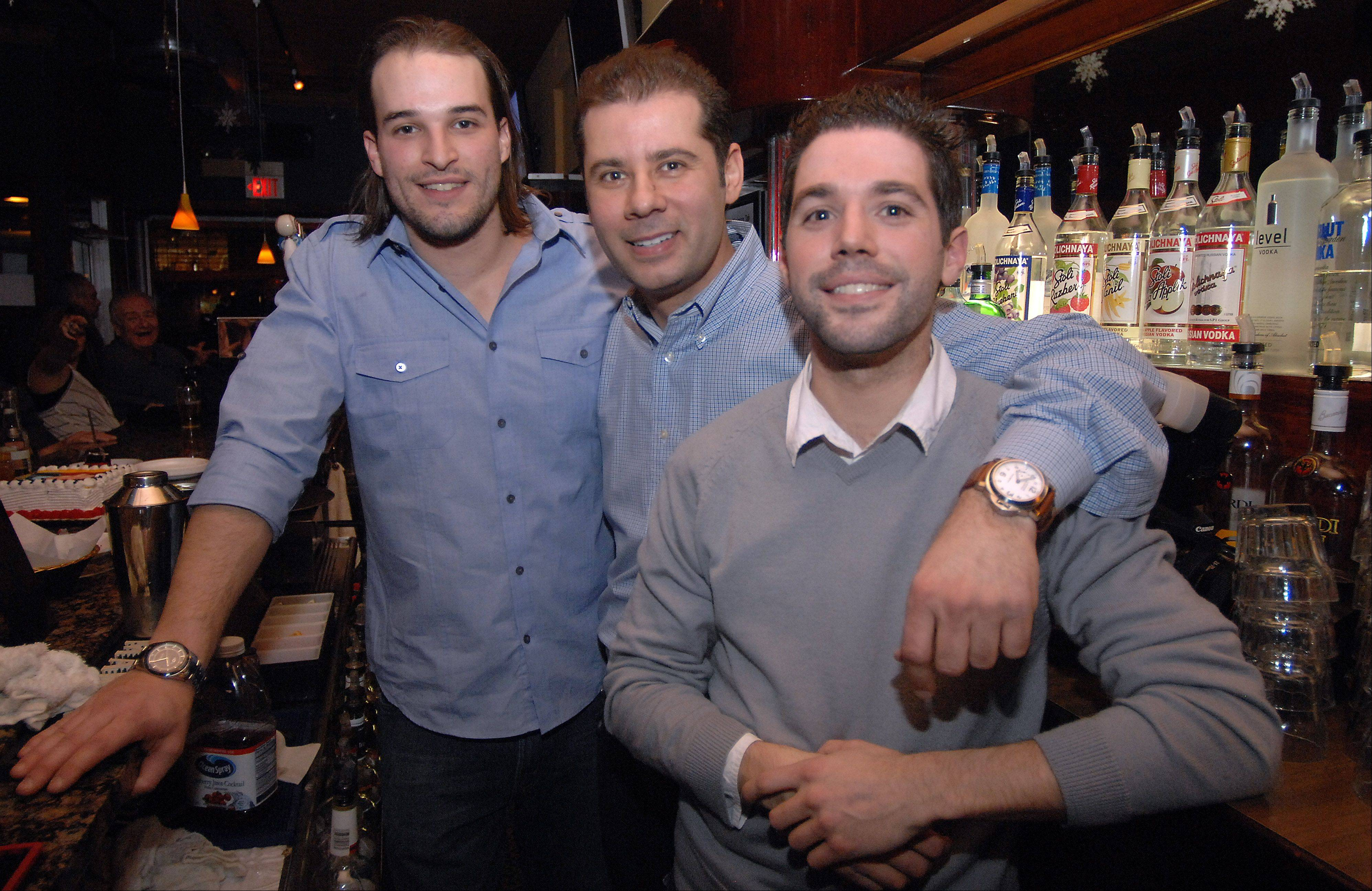 The 3 Gs -- the new ownership group behind the Miner Street Tavern in downtown Des Plaines -- are Alex Giannikoulis, John Grammatis and Kostas Giannikoulis. The tavern will still serve patrons until 4 a.m.