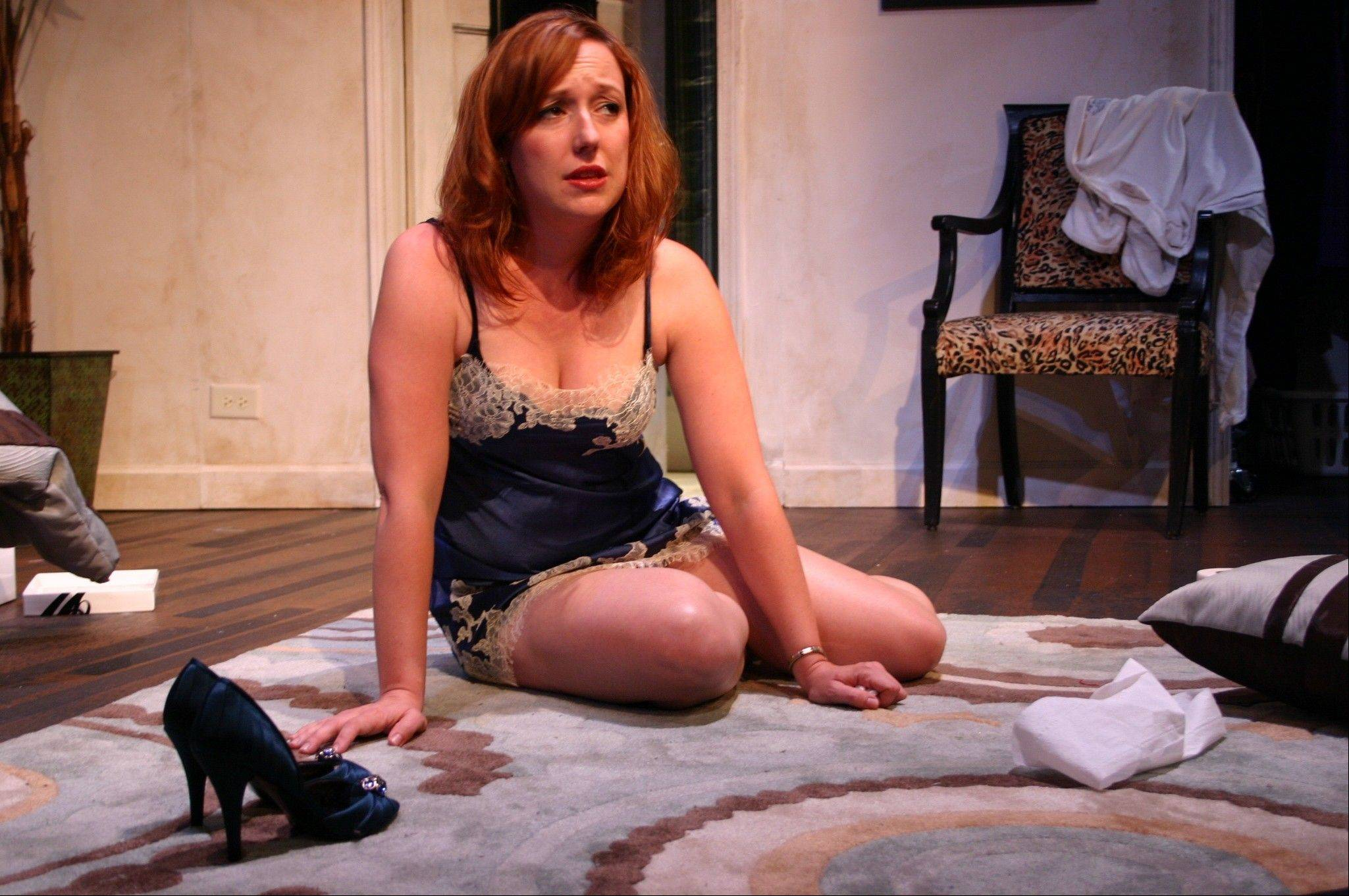 "Lauren Pizzi plays Haley Walker, a single mom re-entering the dating scene, in Theresa Rebeck's ""Bad Dates,"" running through Aug. 7 at Fox Valley Repertory Theater."