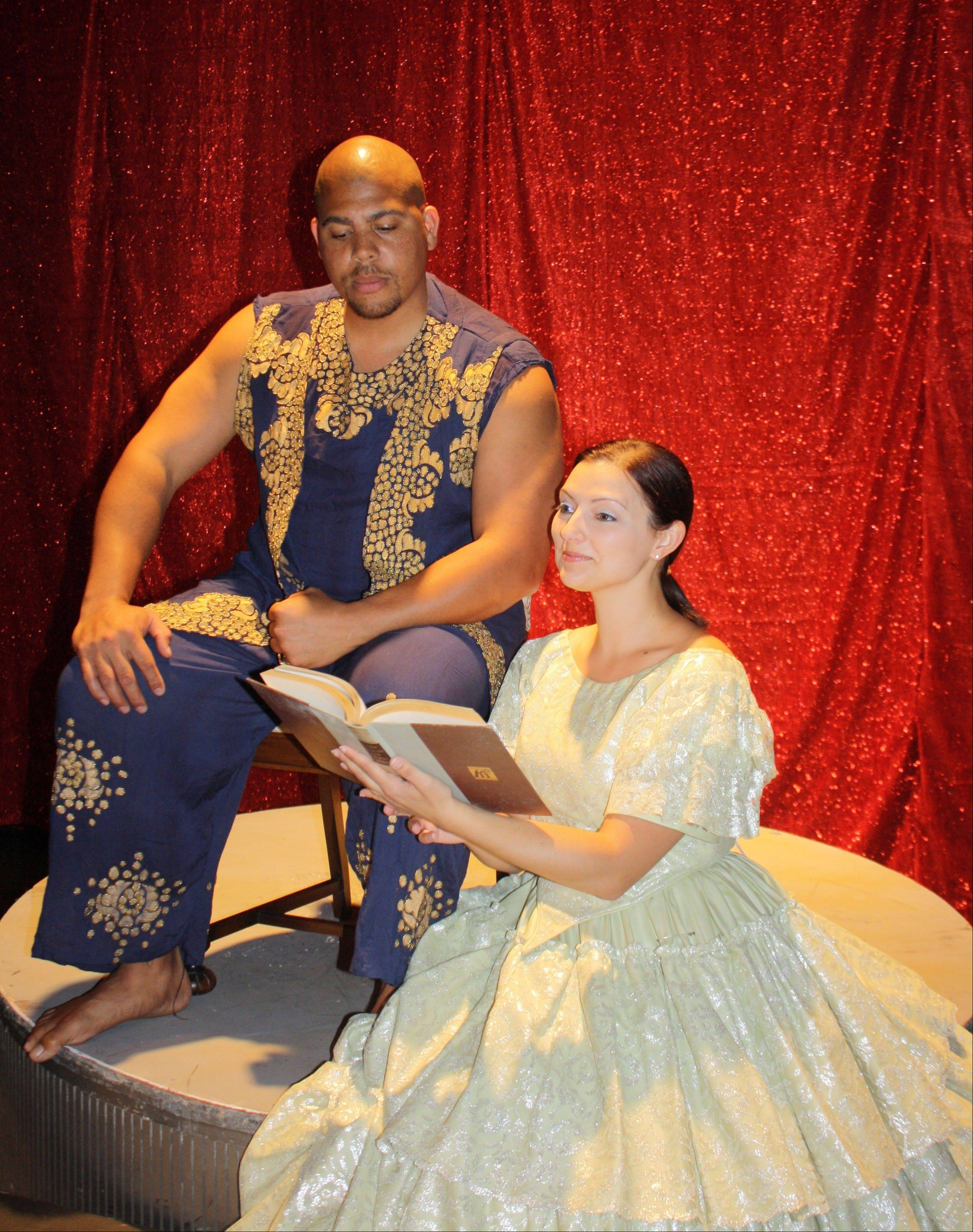 "Joe Rigaud plays the King and Stephanie Leo is Anna in the Fox Valley Park District's Summer Stage production of ""The King and I,"" which hits the Paramount Theatre for four shows today through Sunday."
