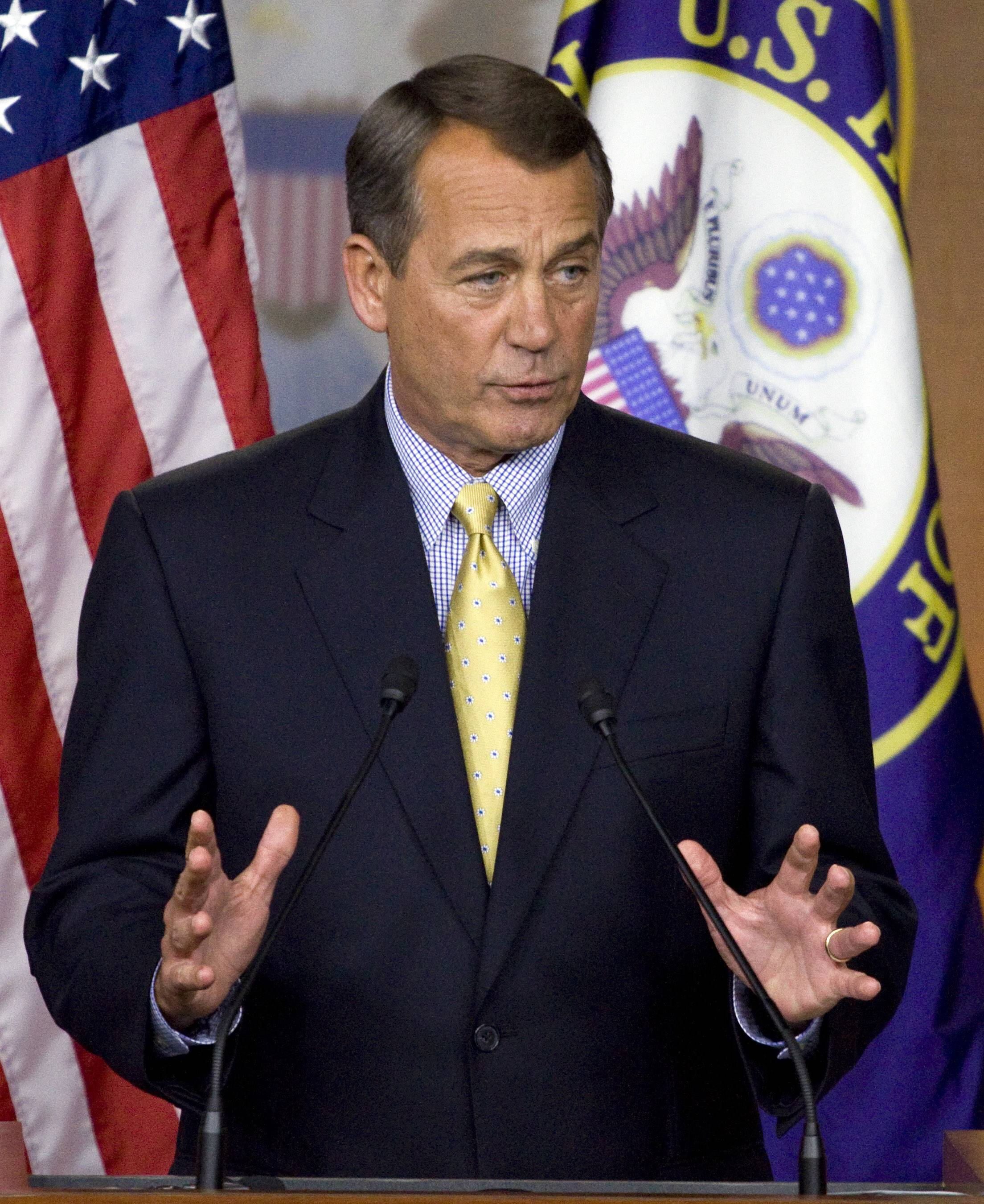 """I want to be entirely clear, no one wants default on the full faith and credit of the United States government, and I'm convinced that we will not,"" House Speaker John Boehner of Ohio said Friday."
