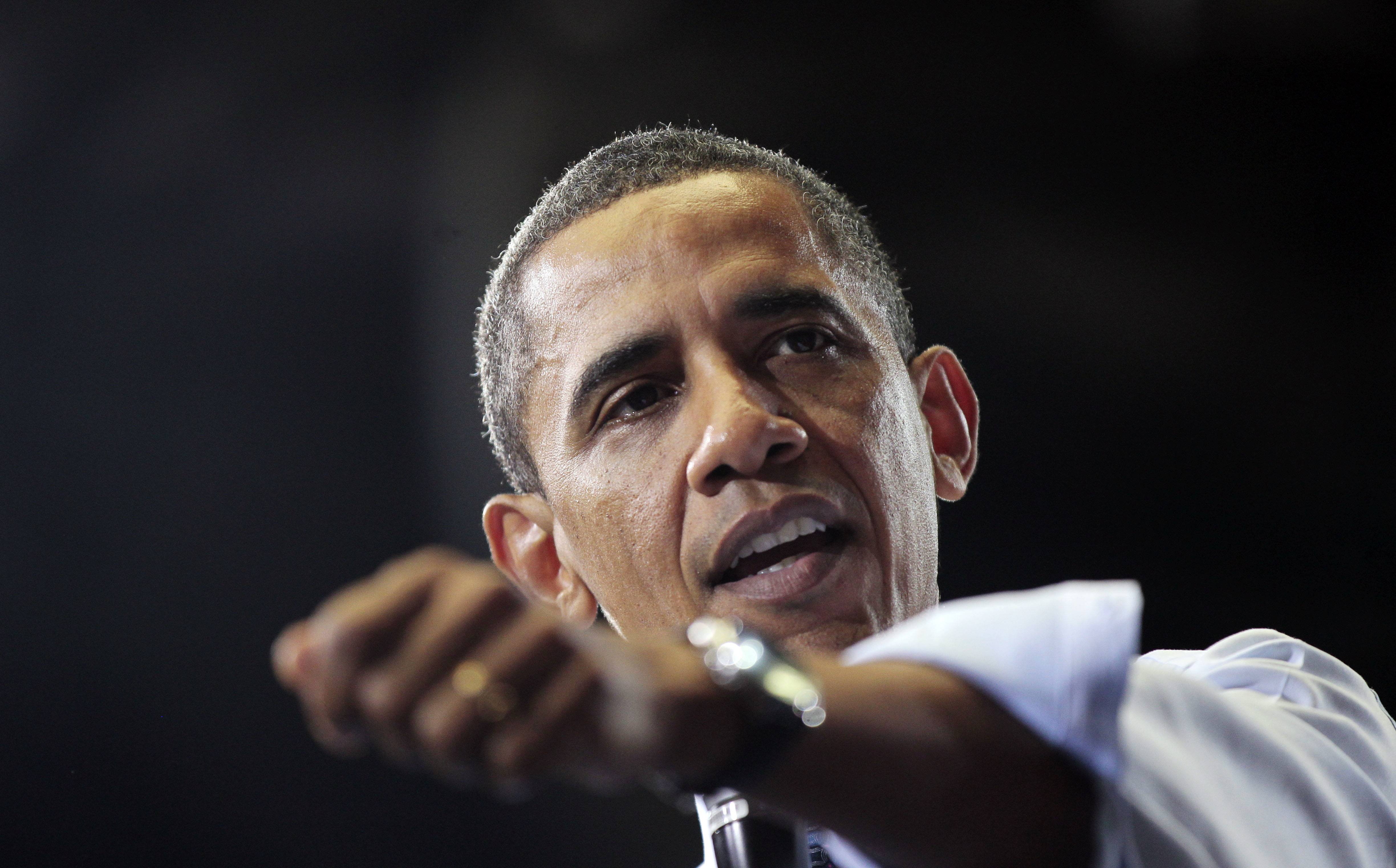 President Barack Obama Friday during his Town Hall at the Ritchie Coliseum on the campus of University of Maryland.