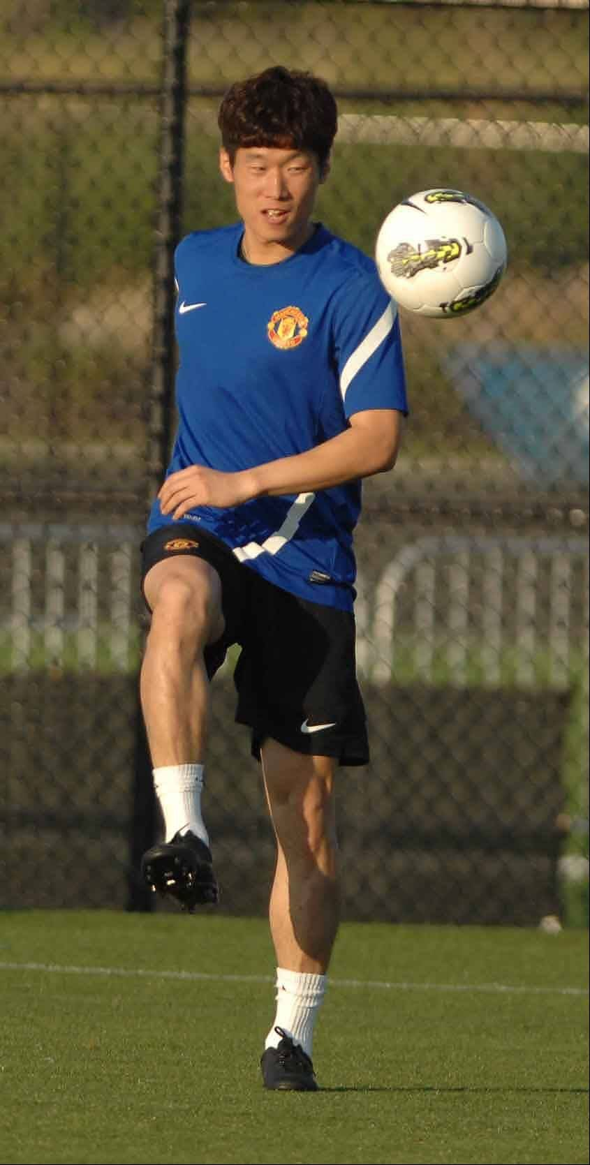 PAUL MICHNA/Pmichna@dailyherald.com Manchester United's Ji-Sung Park has traveled the world, but sight-seeing opportunities are few and far between.
