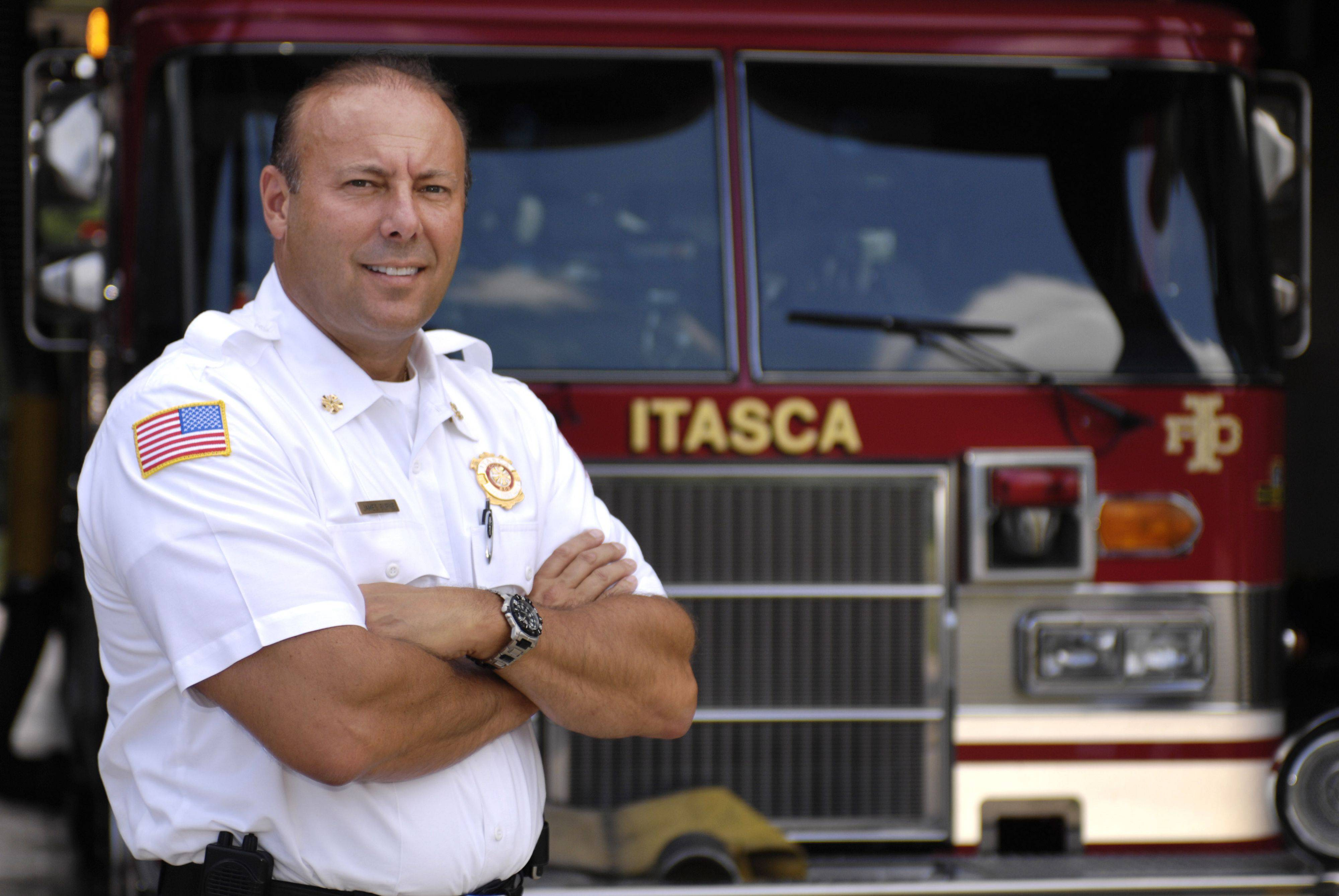 Itasca Fire Chief James Burke took the helm of the Itasca Fire Protection District in April.