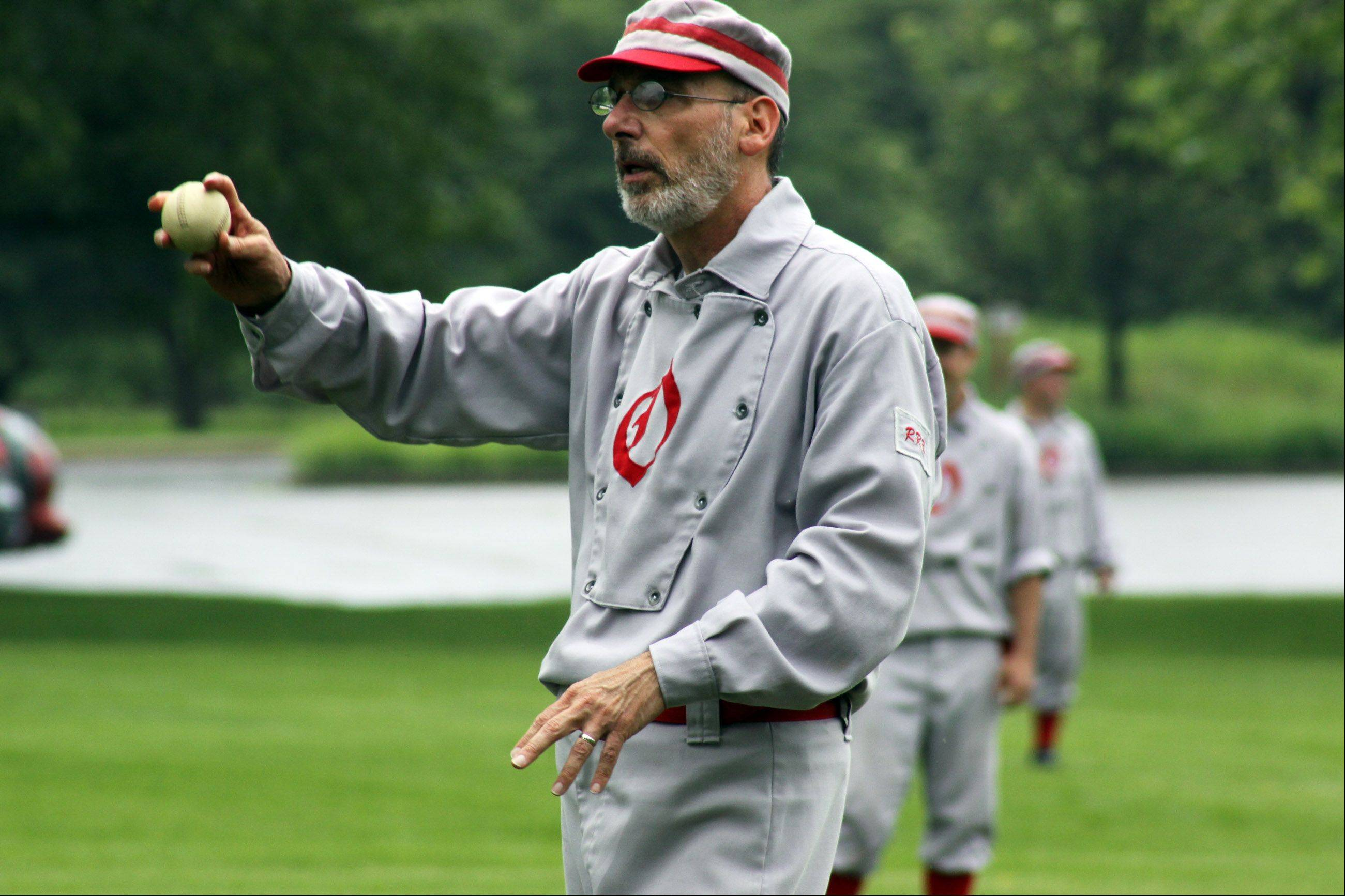 The DuPage County Plowboys, Somonauk Blue Stockings and Oregon Ganymedes will play a round-robin vintage baseball tournament from 11 a.m. to 2 p.m. Sunday, July 23, at Cantigny Park.