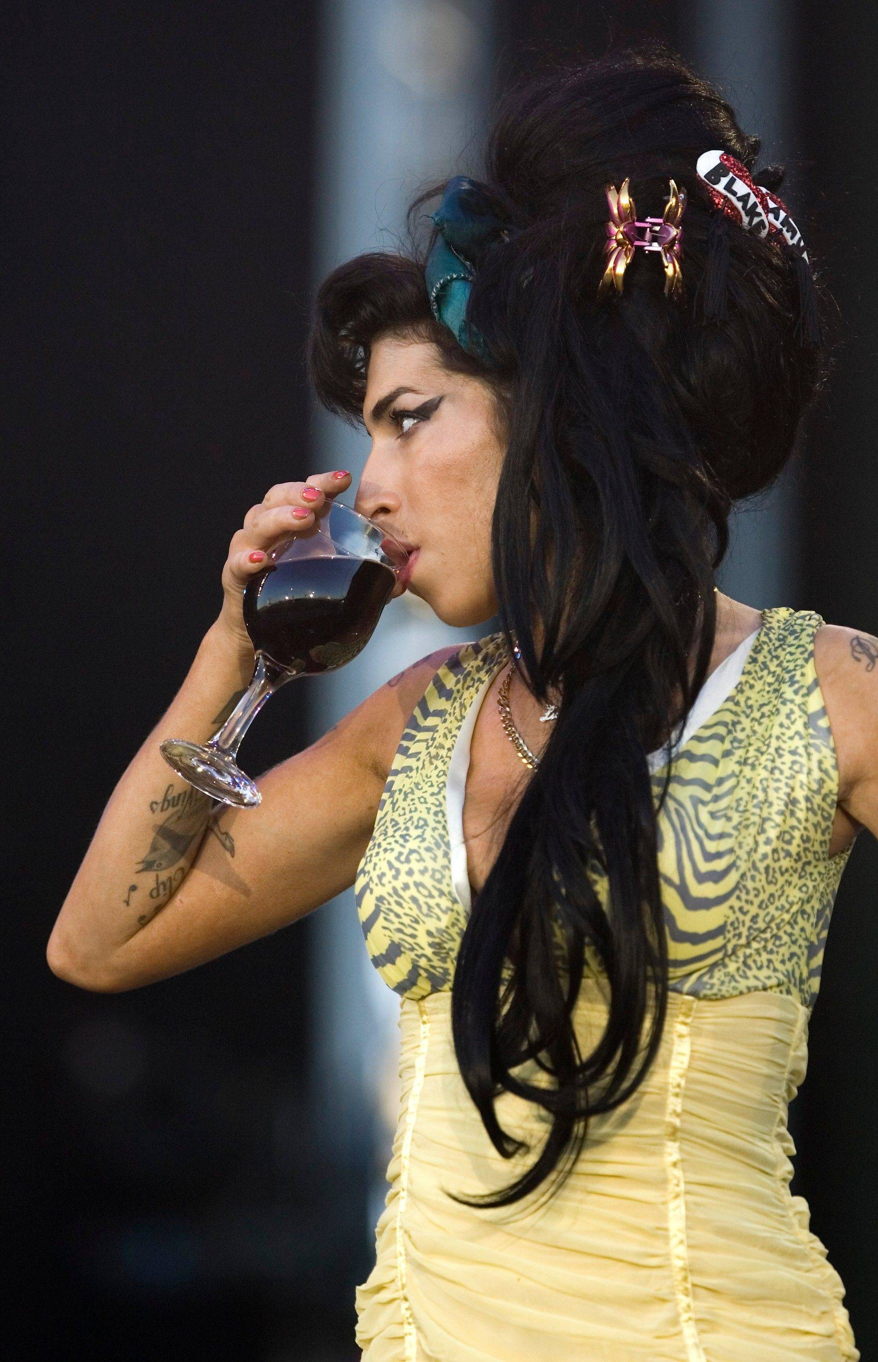 Amy Winehouse performs during the Rock in Rio music festival in Arganda del Rey, on the outskirts of Madrid.