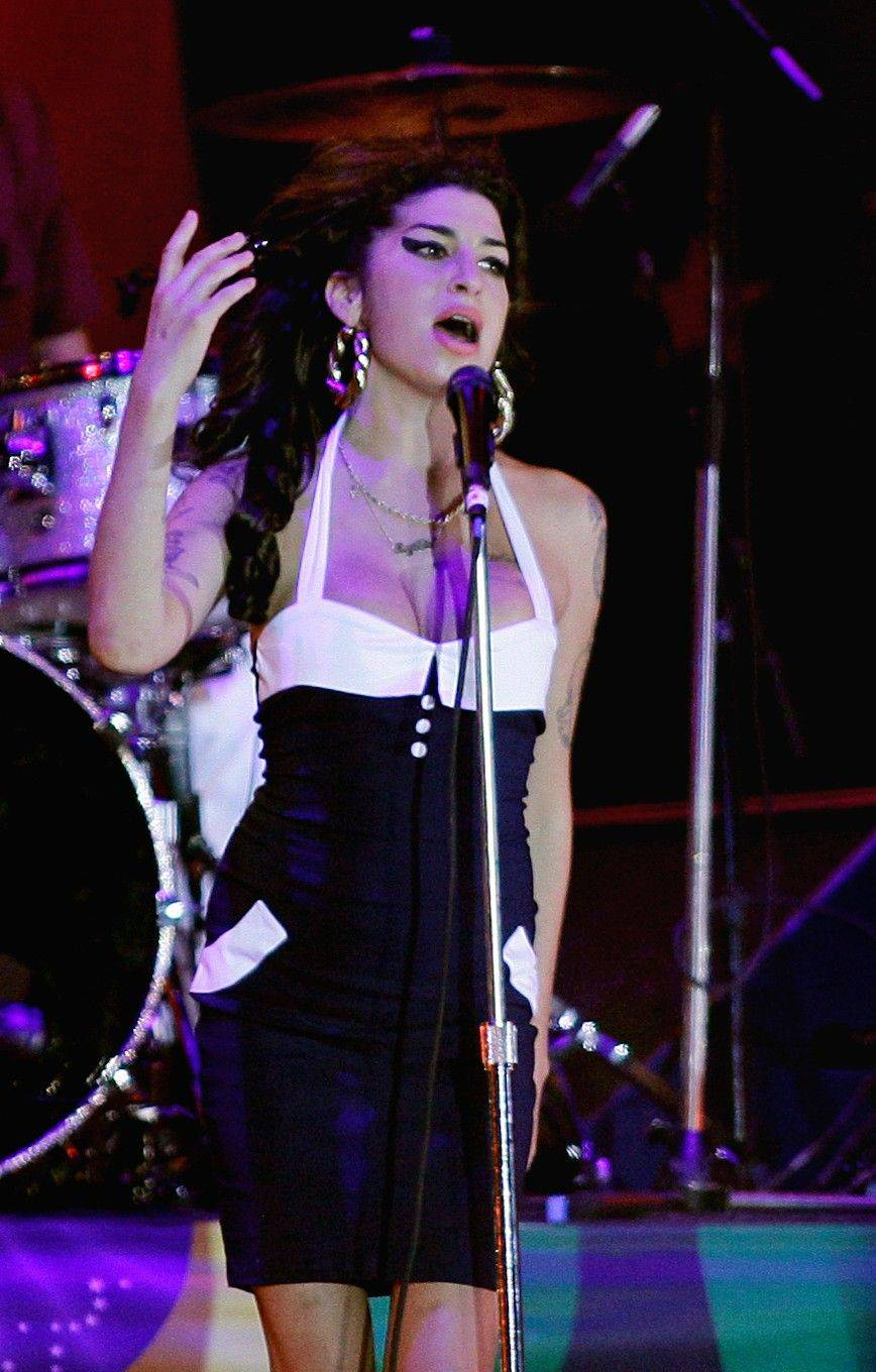 Amy Winehouse performs in concert in Sao Paulo, Brazil.