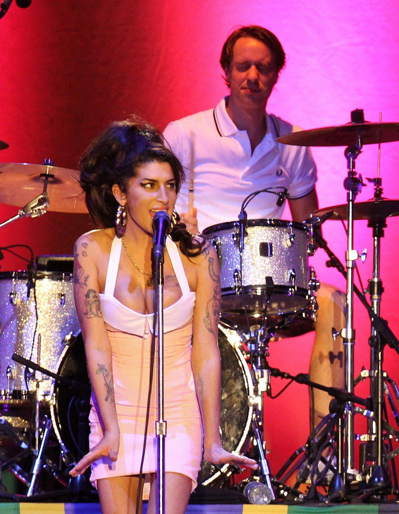 Amy Winehouse performs in Florianopolis, Brazil.