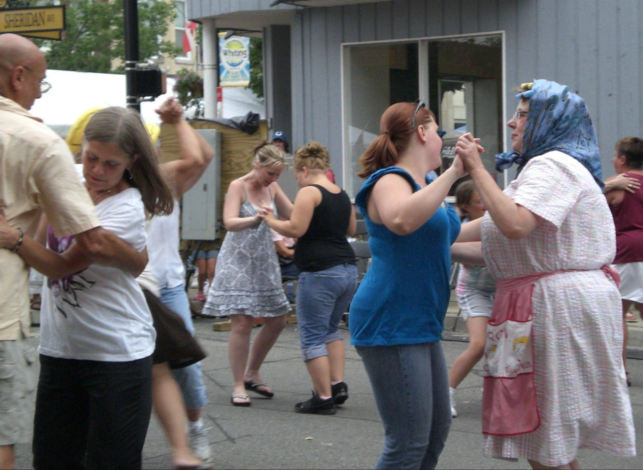 Everyone polkas at Pierogi Fest, which runs from Friday to Sunday, July 29-31, in Whiting, Ind.