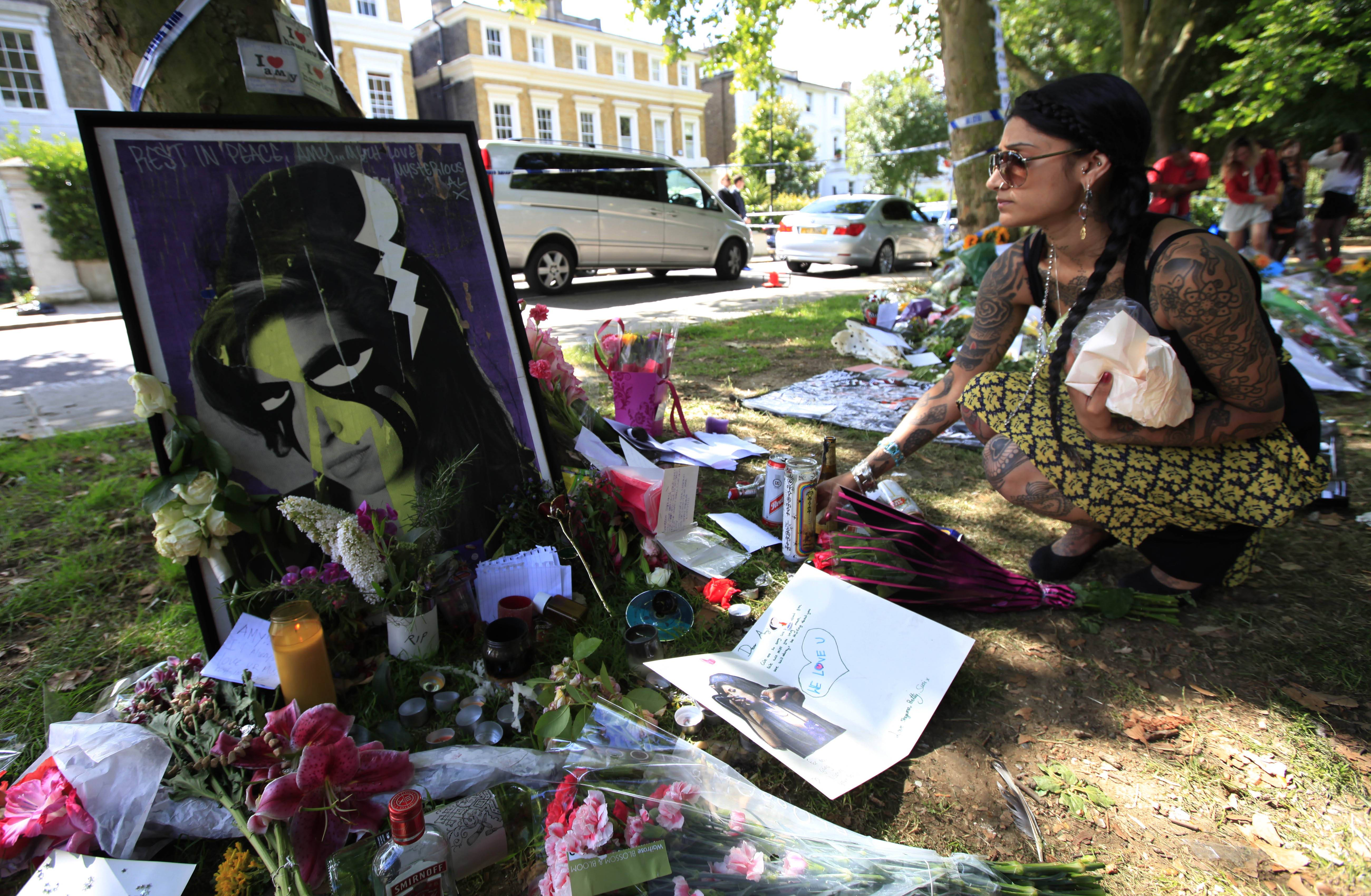 """This means so much to my family,"" Mitch Winehouse said of mourners stopping by Amy Winehouse's London home to pay their respects to the singer."
