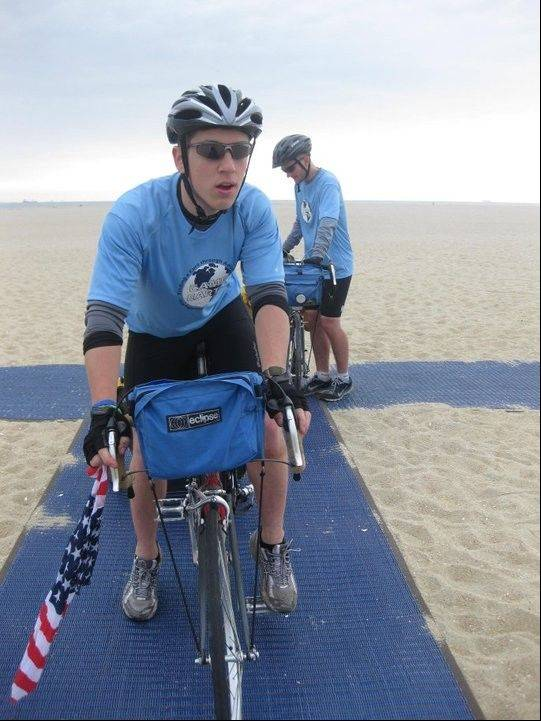 Patrick Dimpsey, a Roselle college sophomore, biked for 50 days from New Jersey to San Francisco. The journey totaled more than 3,600 miles and ended Sunday, July 3.