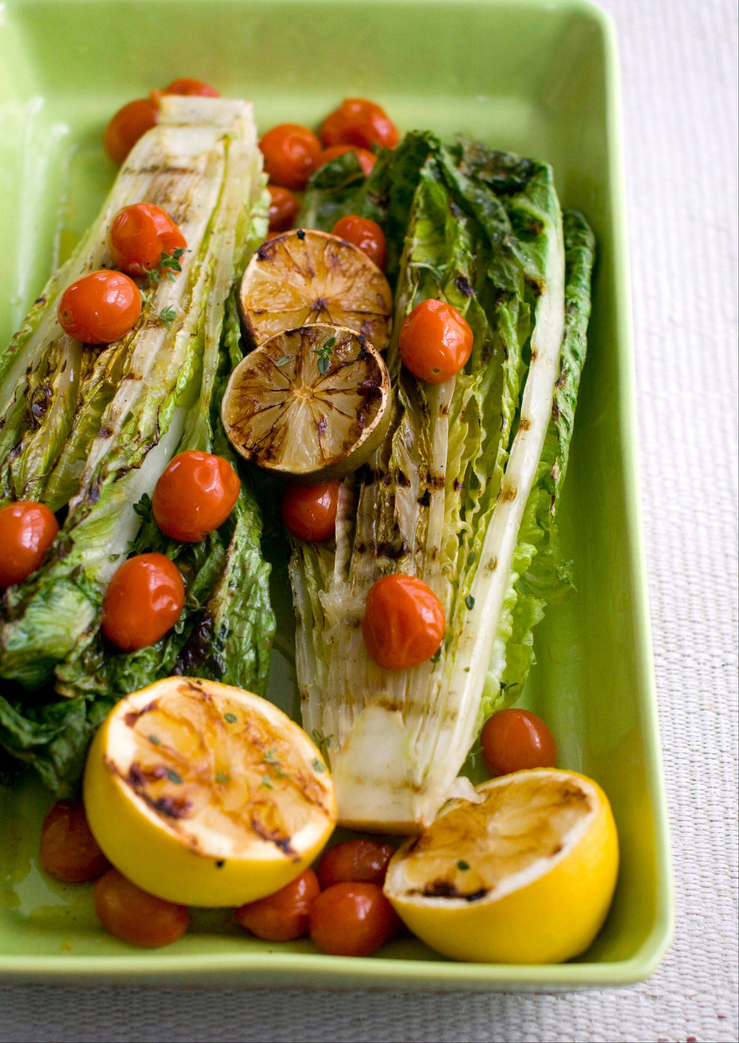 When firing up the grill for dinner, don�t overlook romaine and other greens that develop deep flavors after a few minutes over hot flames.