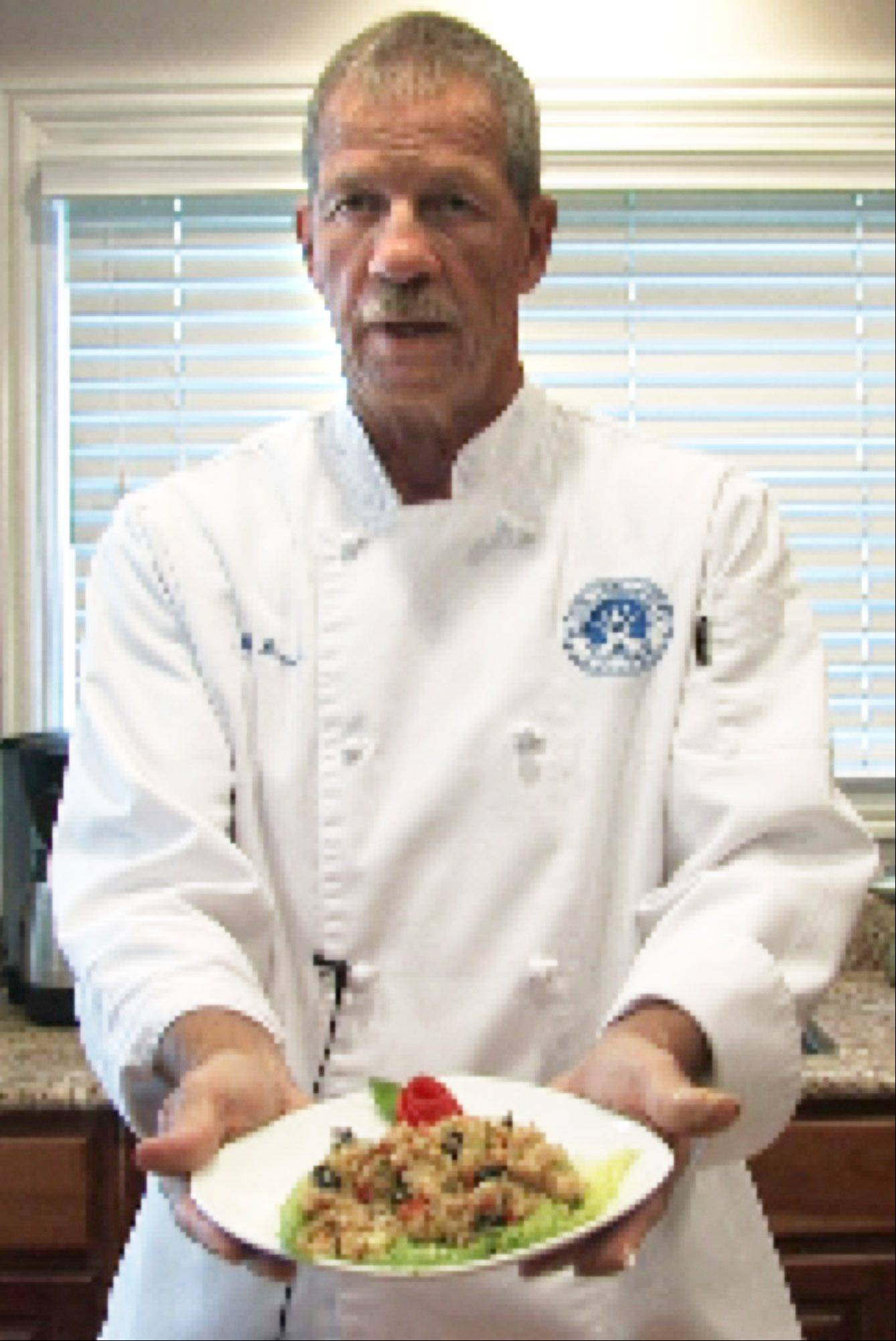 To fill the hours during his retirement, Dan Bessler takes culinary classes at Elgin Community College. His quinoa salad won a competition at the college earlier this year.