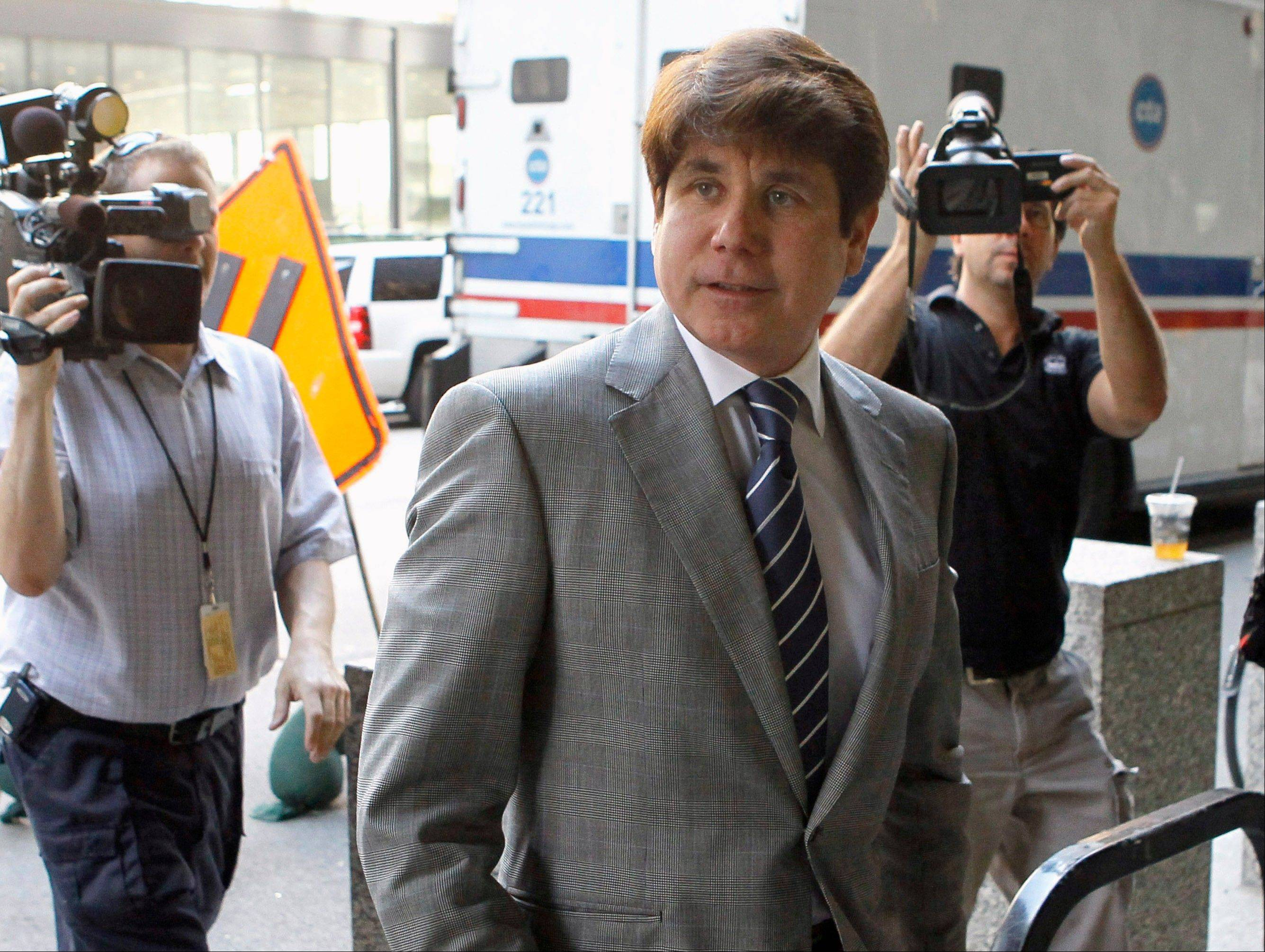 "Former Gov. Rod Blagojevich was convicted in June on multiple corruption charges. His attorneys claim he was deprived the ""presumption of innocence."""