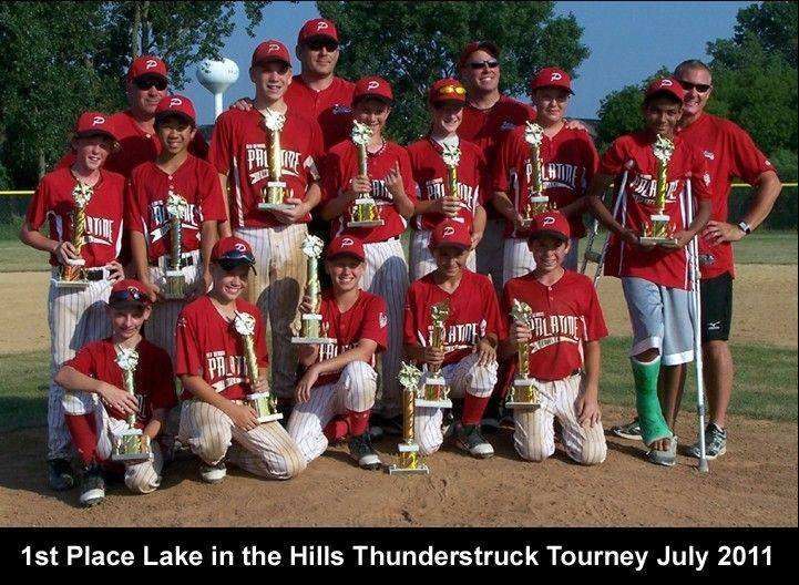 The 12U Palatine Red Demons at the Lake in the Hills Thunderstruck Tournament.