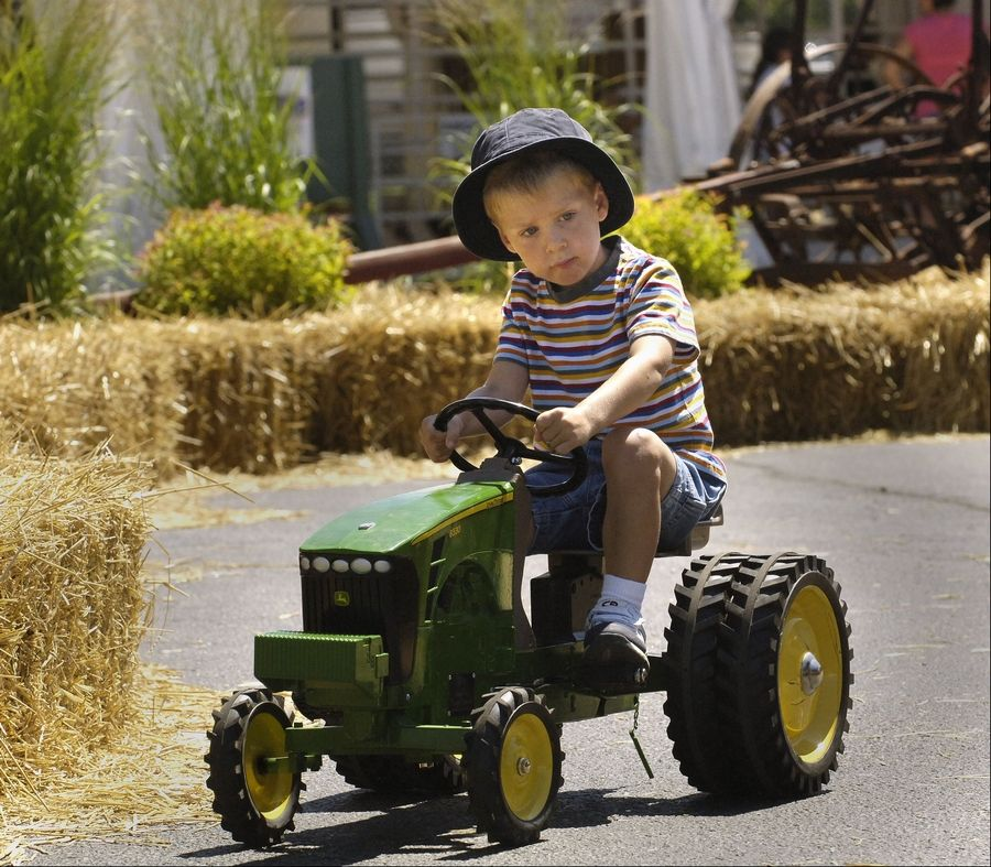 "Pedal tractors are always a large draw at the DuPage County Fair. AgVentureland Chairman Tom Meyer says they're ""one of the bigger hits"" among pint-size fair goers."