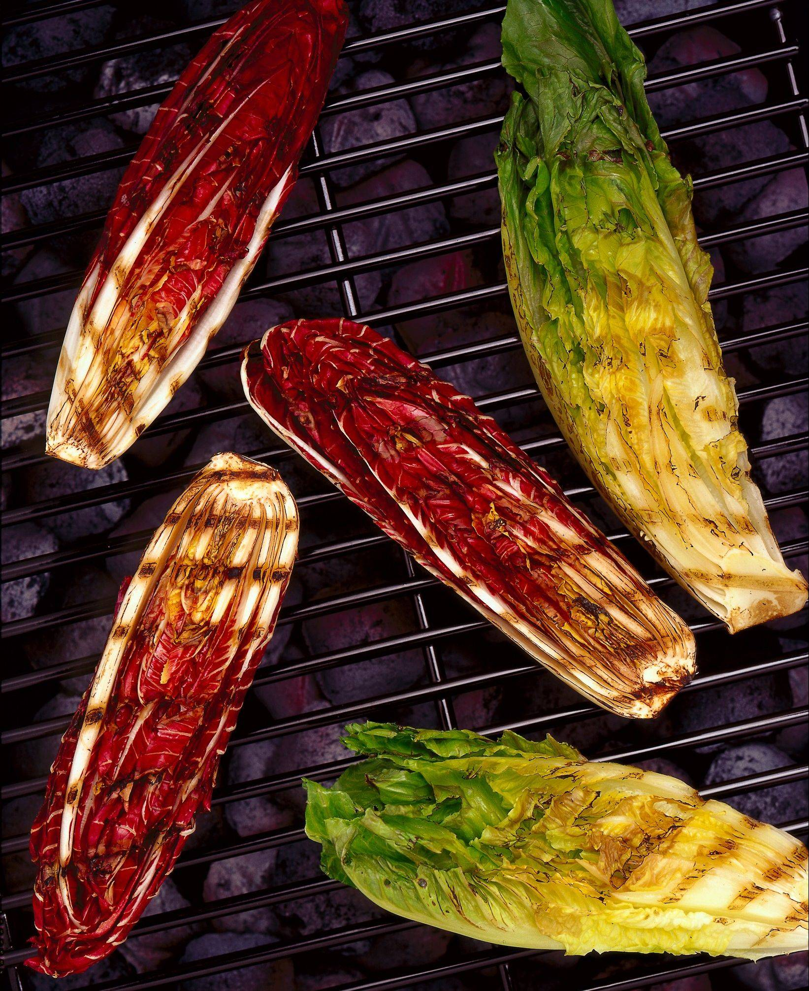 Grilled greens rich with flavor