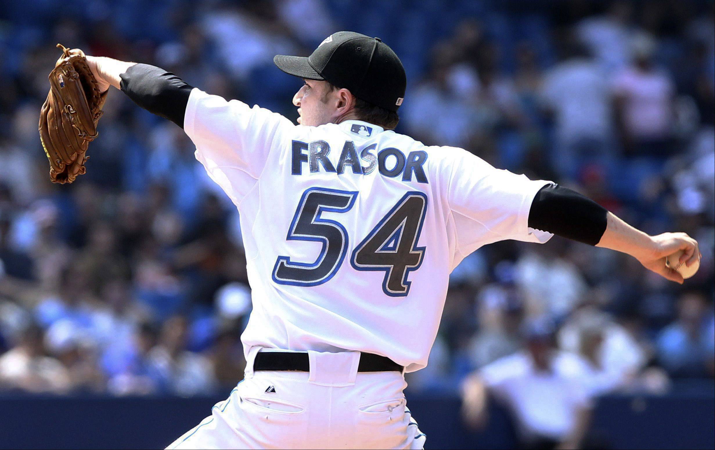 Toronto Blue Jays relief pitcher Jason Frasor was 2-1 with a 2.98 ERA in 44 relief appearances with Toronto this season. The Sox acquired the 33-year-old Frasor, who lives in Oak Forest and pitched at Southern Illinois University.