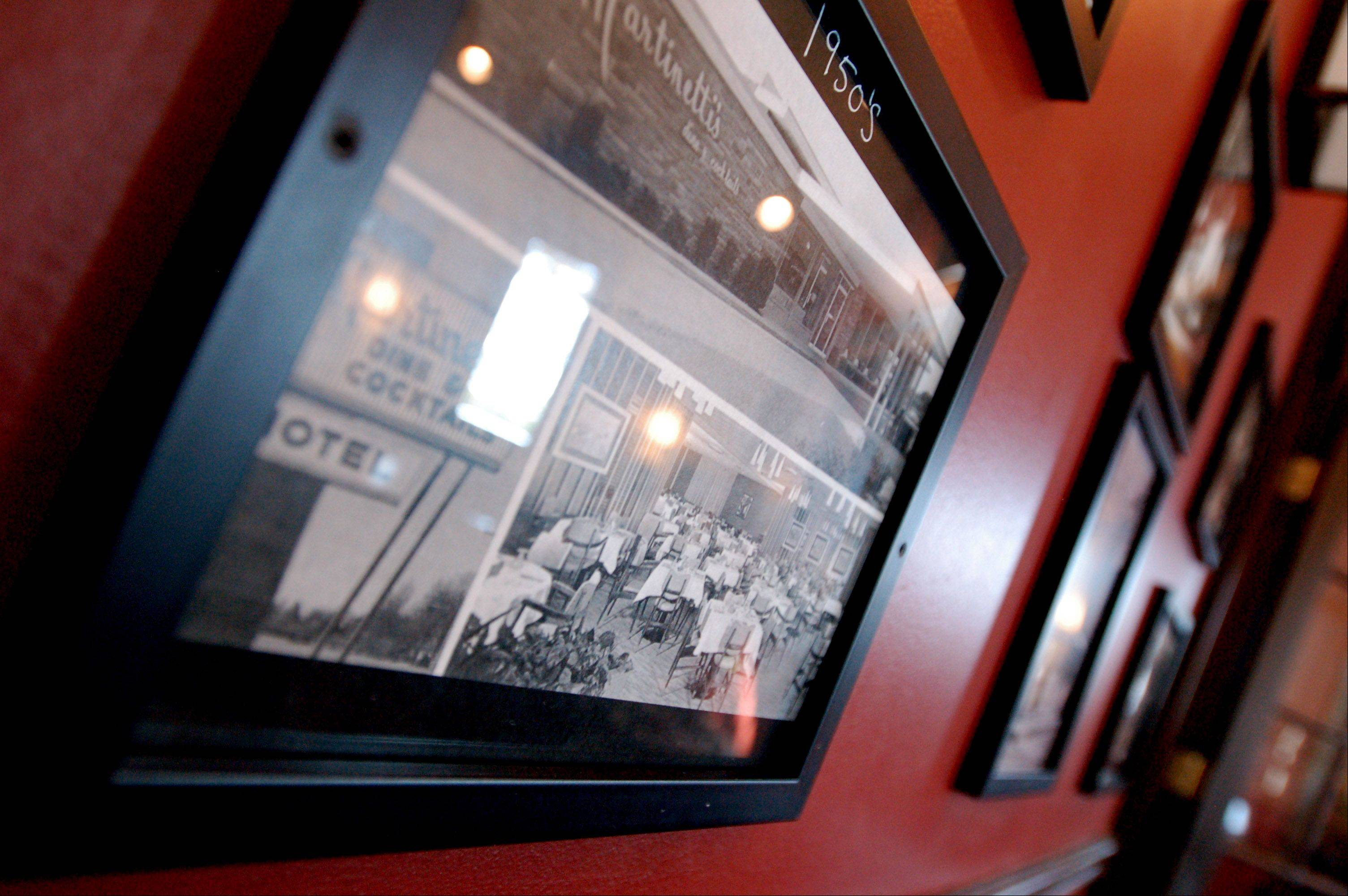 Historic photos decorate the walls at Hartley's.